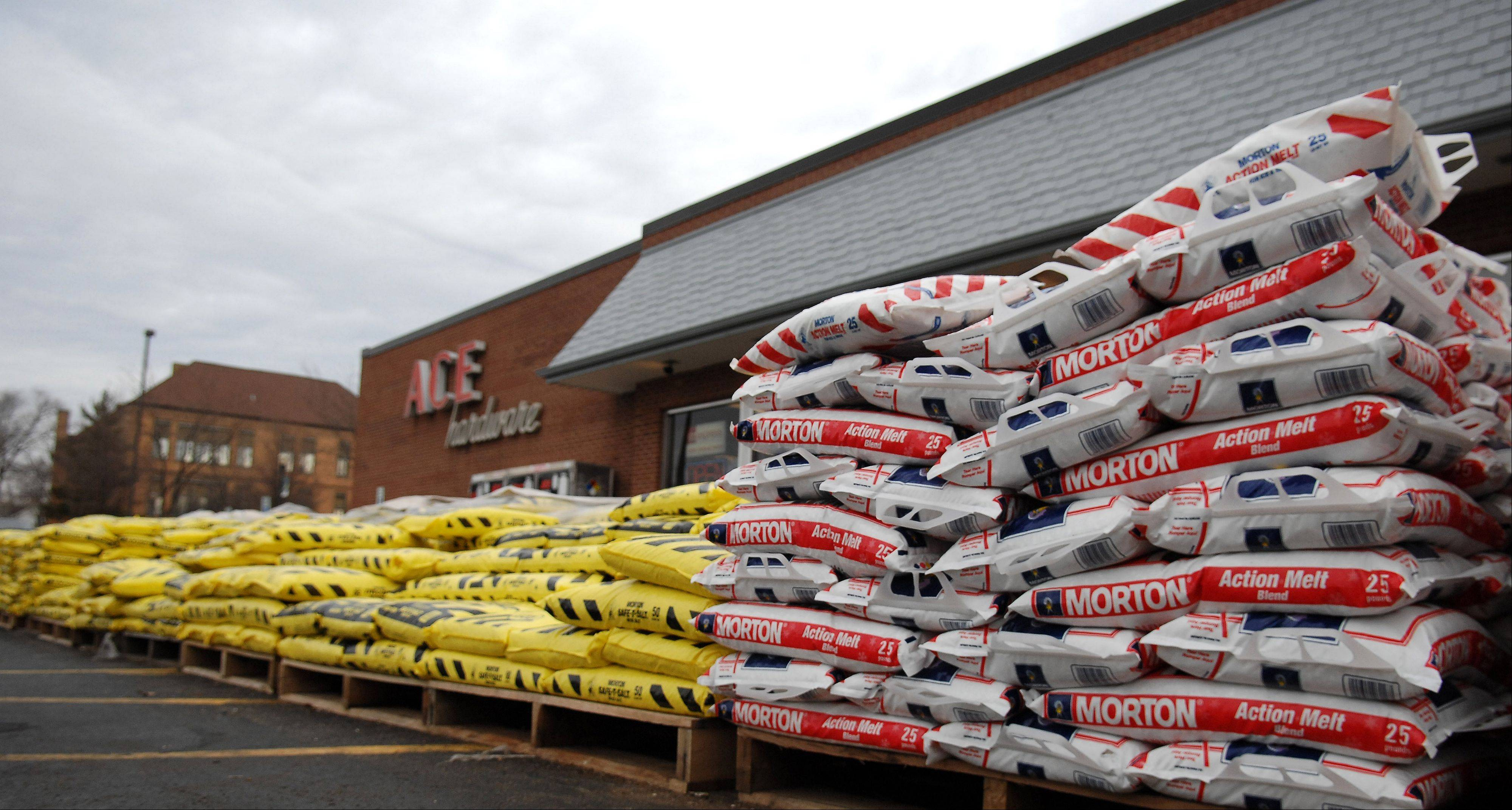 The mild start to winter has left Ace Hardware in Elgin with plenty of snow removal inventory.