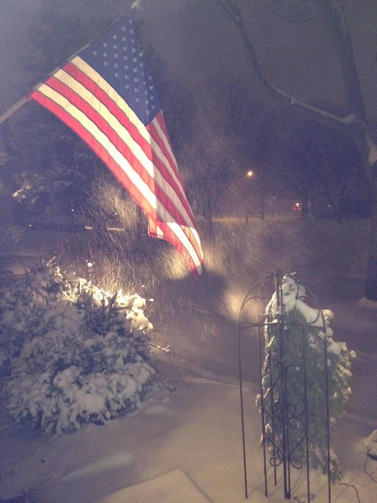 Old Glory Meets Old Man Winter 2012!