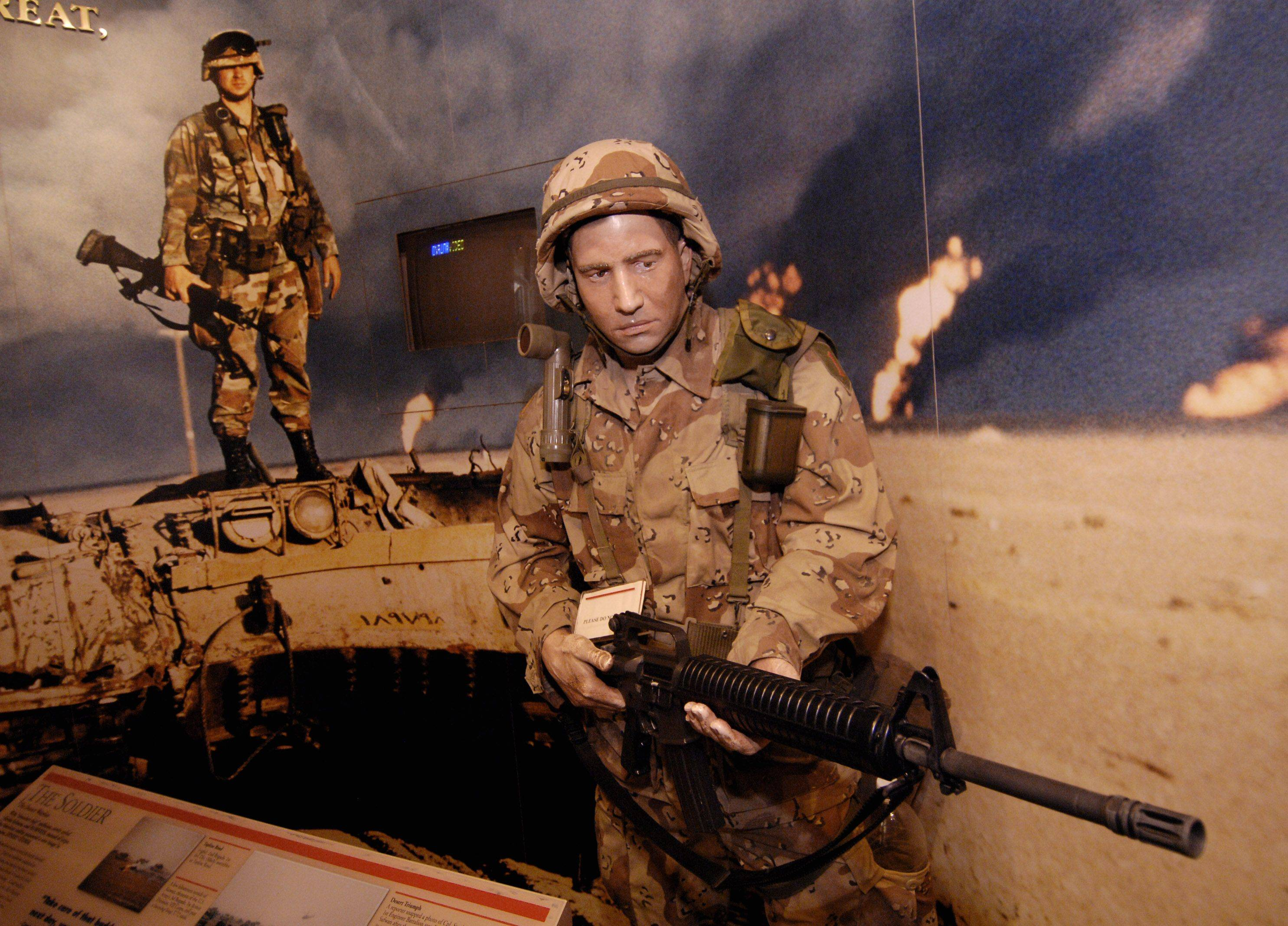 The U.S. Army's 1st Division is portrayed during Desert Storm in the 1st Division Museum at Cantigny Park in Wheaton.