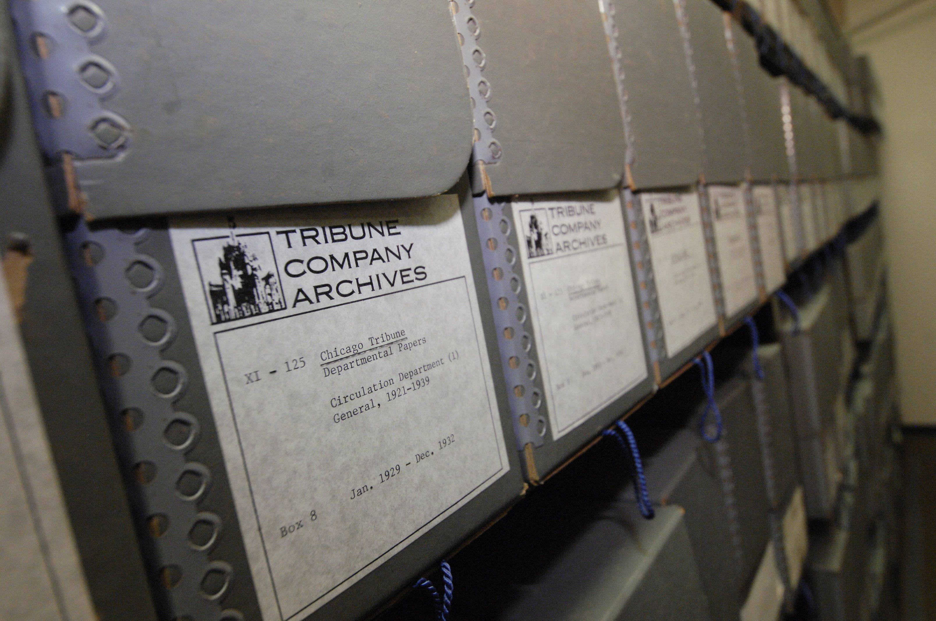 The McCormick papers are under lock and key in the Colonel Robert R. McCormick Research center in the 1st Division Museum at Cantigny Park in Wheaton. The McCormick papers fill 599 boxes full of correspondence and documents.