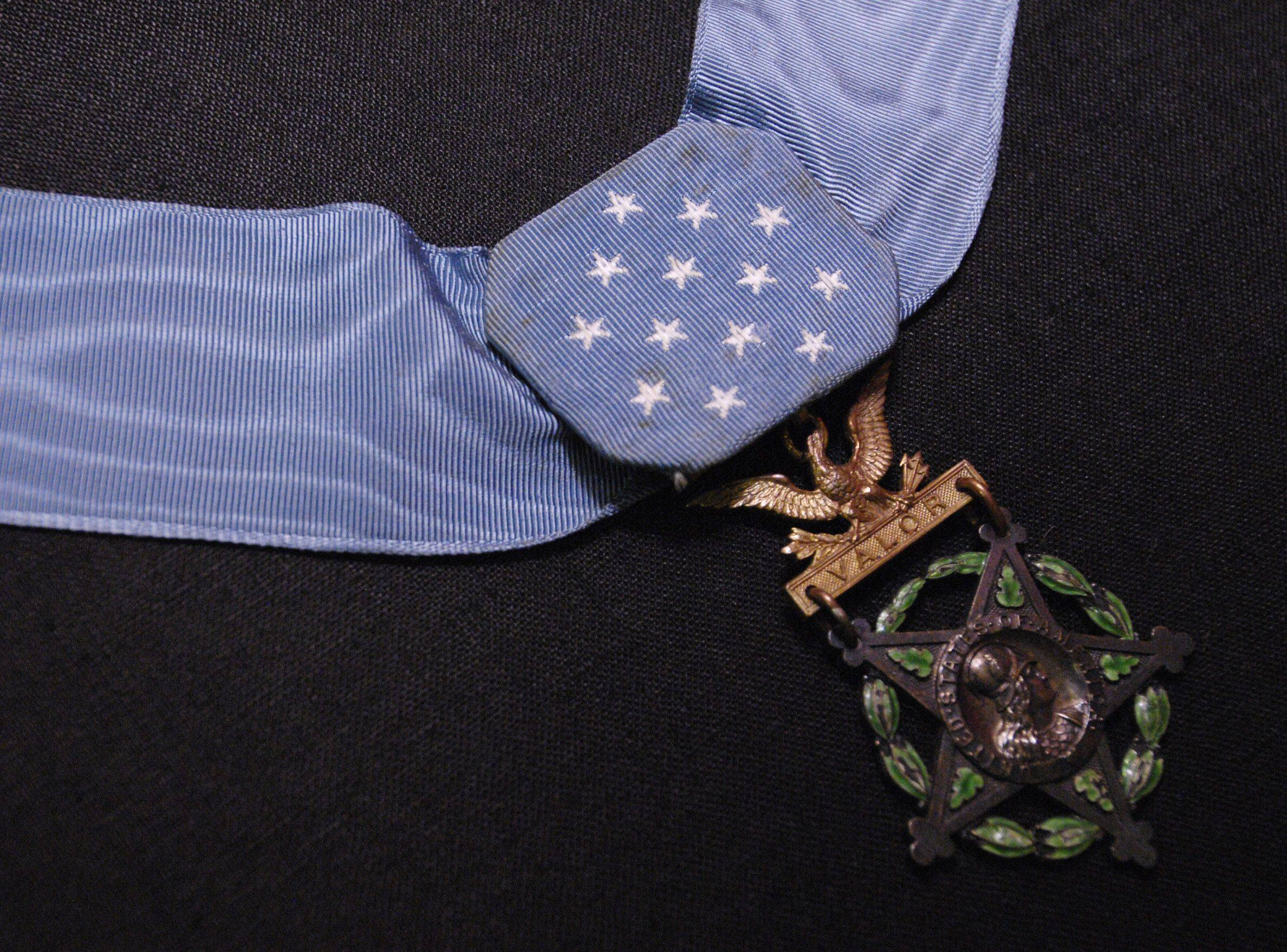 The Medal of Honor of World War I and 1st Division veteran Sam Parker is housed in a vault along with other items such as artwork and weapons in the 1st Division Museums collections area.