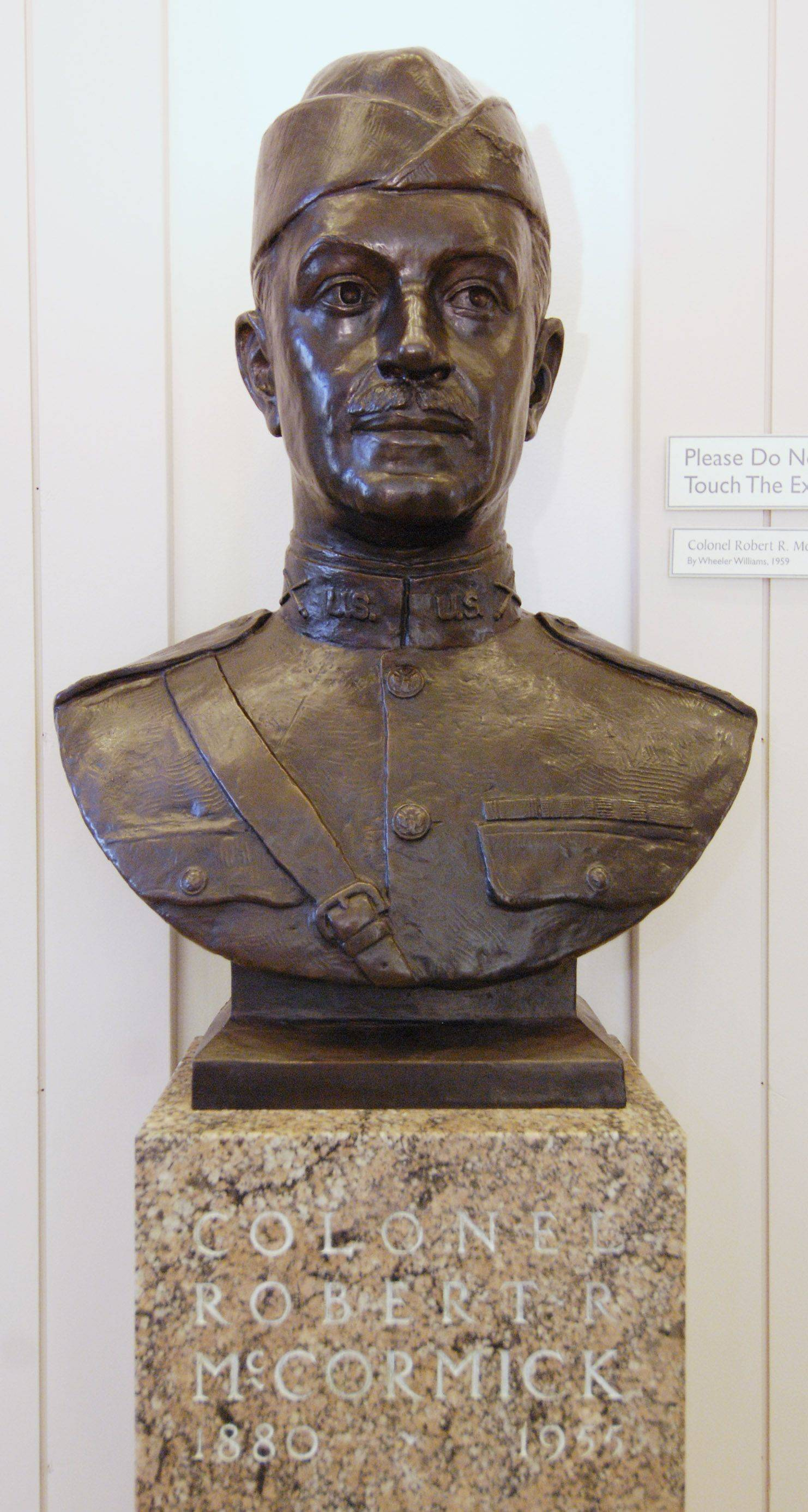 A bust of Colonel Robert R. McCormick in the 1st Division Museum at Cantigny Park in Wheaton.
