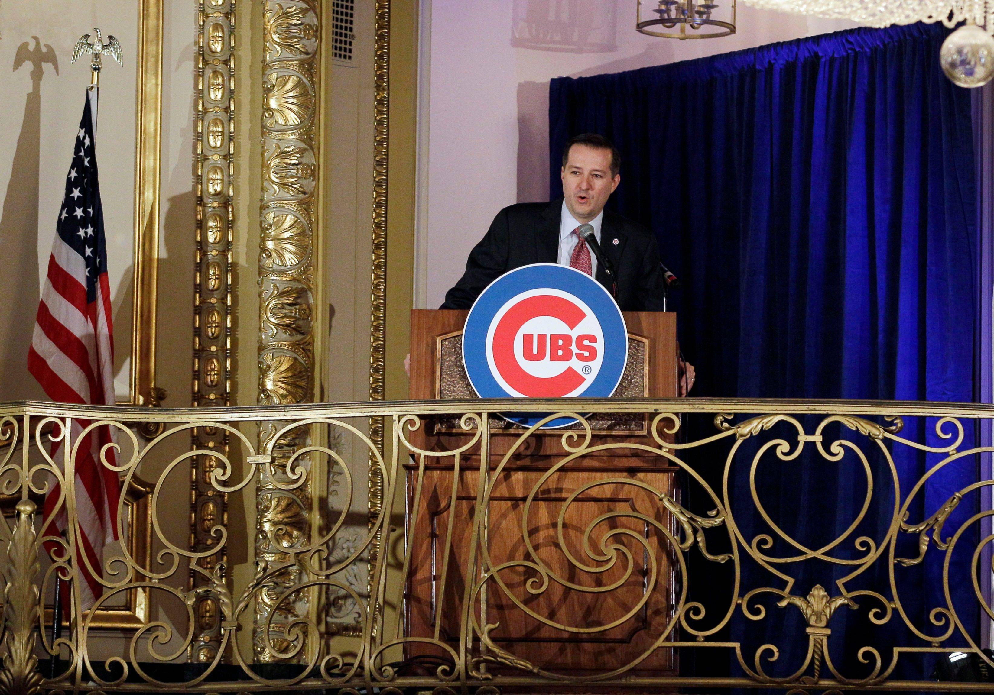 Chicago Cubs Chairman Tom Ricketts speaks during the 27th Annual Chicago Cubs Convention in Chicago on Friday, Jan. 13, 2012.