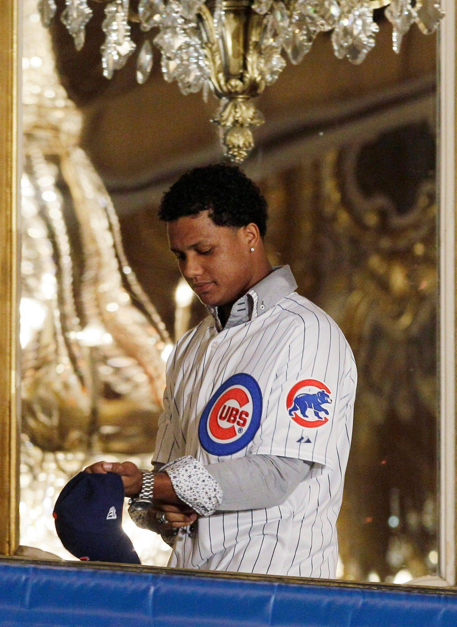 Chicago Cubs infielder Starlin Castro attends the 27th Annual Chicago Cubs Convention in Chicago on Friday, Jan. 13, 2012.