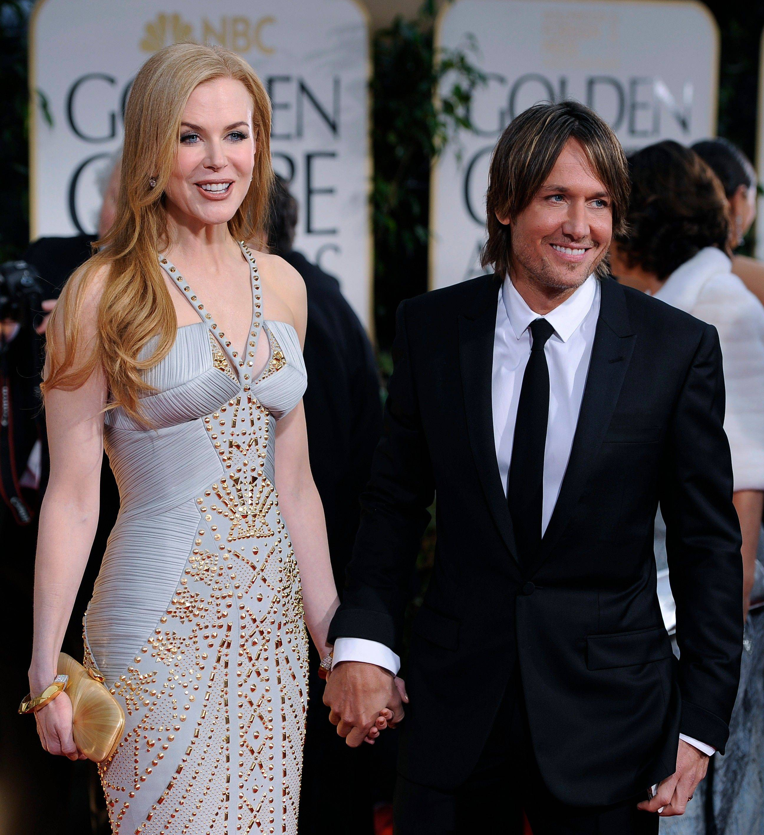Nicole Kidman and Keith Urban arrive at the 69th Annual Golden Globe Awards.