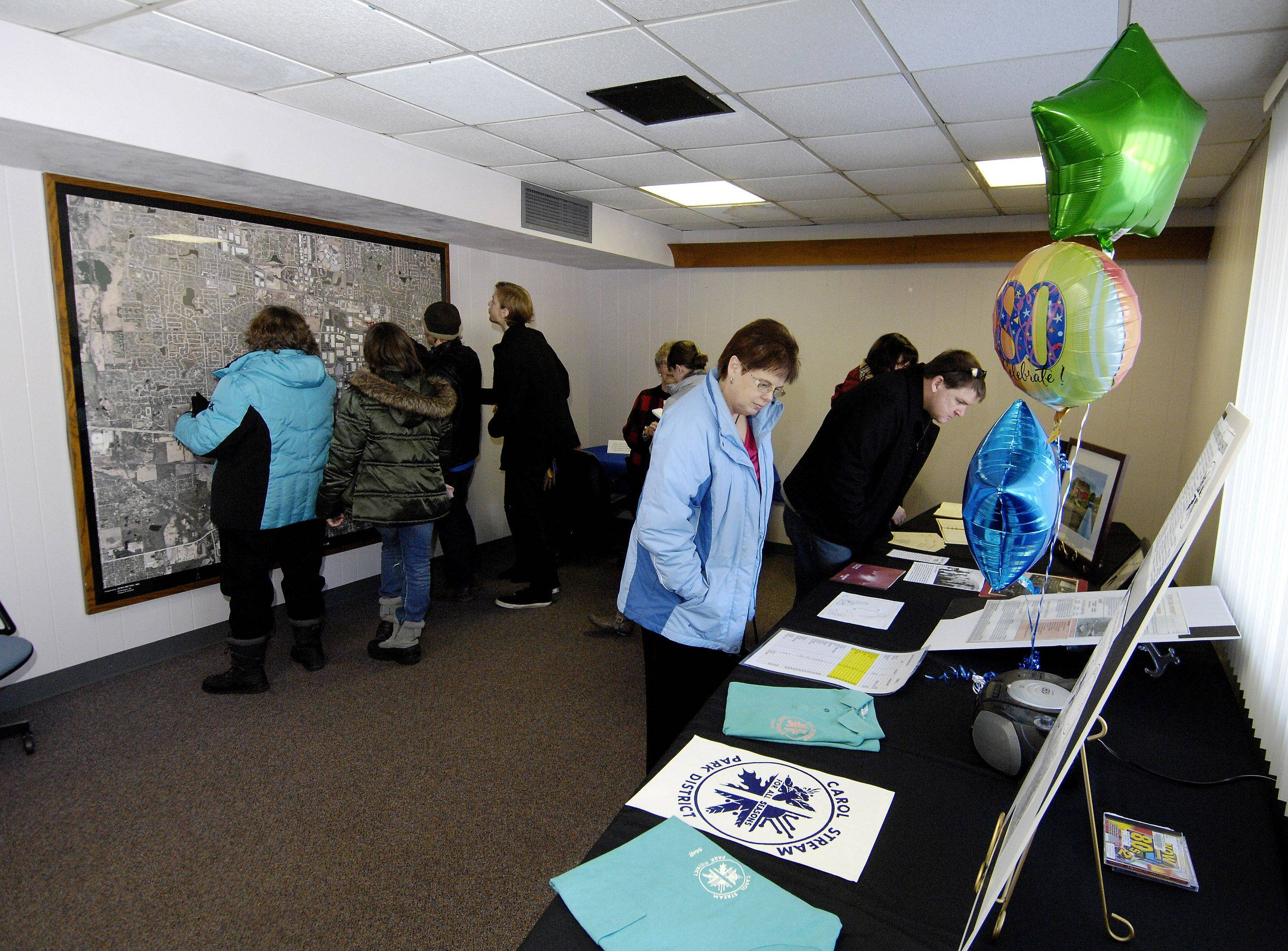 "Several rooms were set up with displays comemorate each decade, such as this 1980's room, showing the history of the Aldrin Community Center at Armstrong Park in Carol Stream, during a ""thanks for the memories"" event, Sunday. The building will be demolished in early 2012 as part of DuPage County storm water management project in the park."