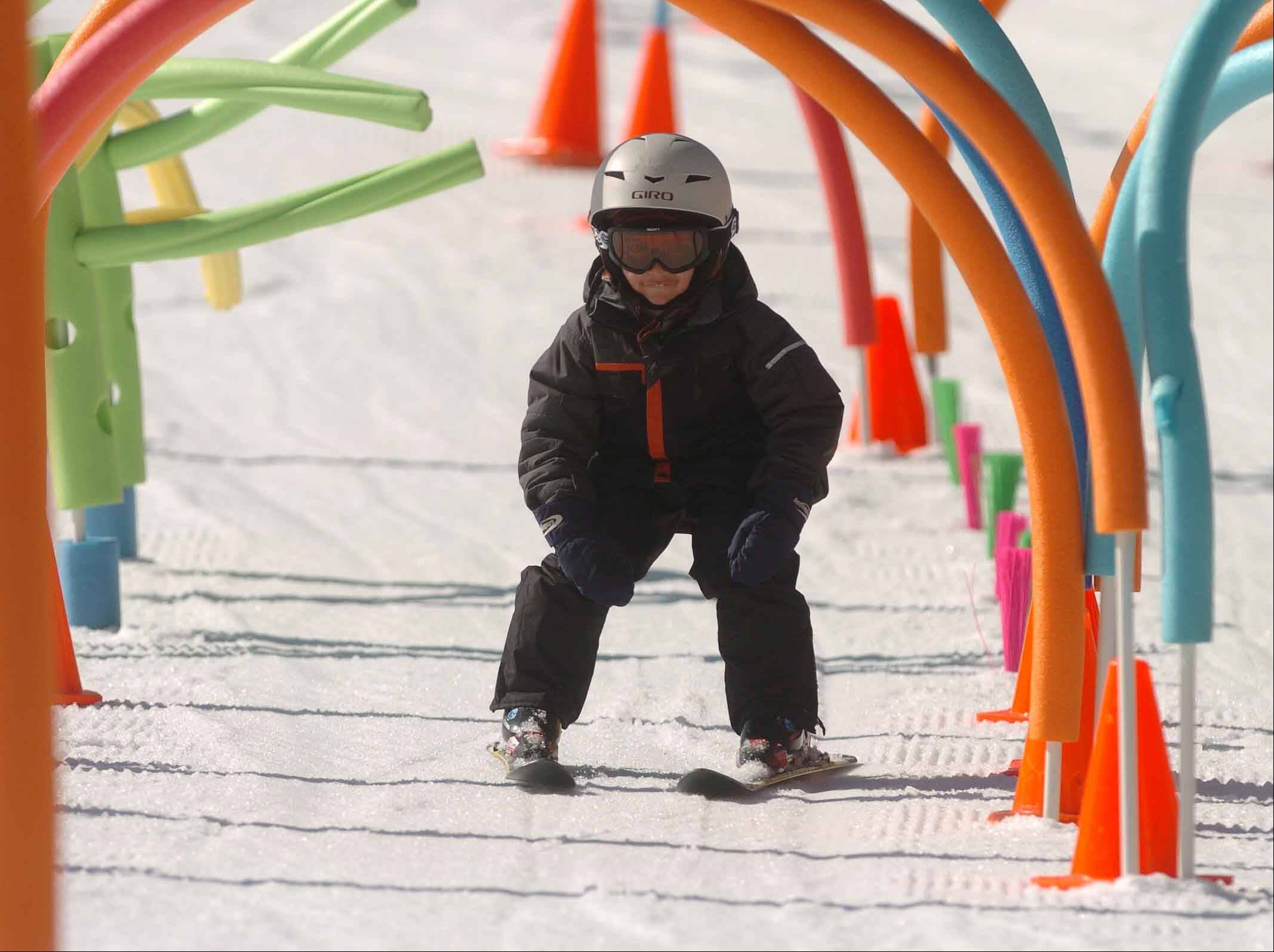 All ages can learn to ski at Four Lakes. Children as young as 4 can take classes, while last year's eldest student was older than 80.