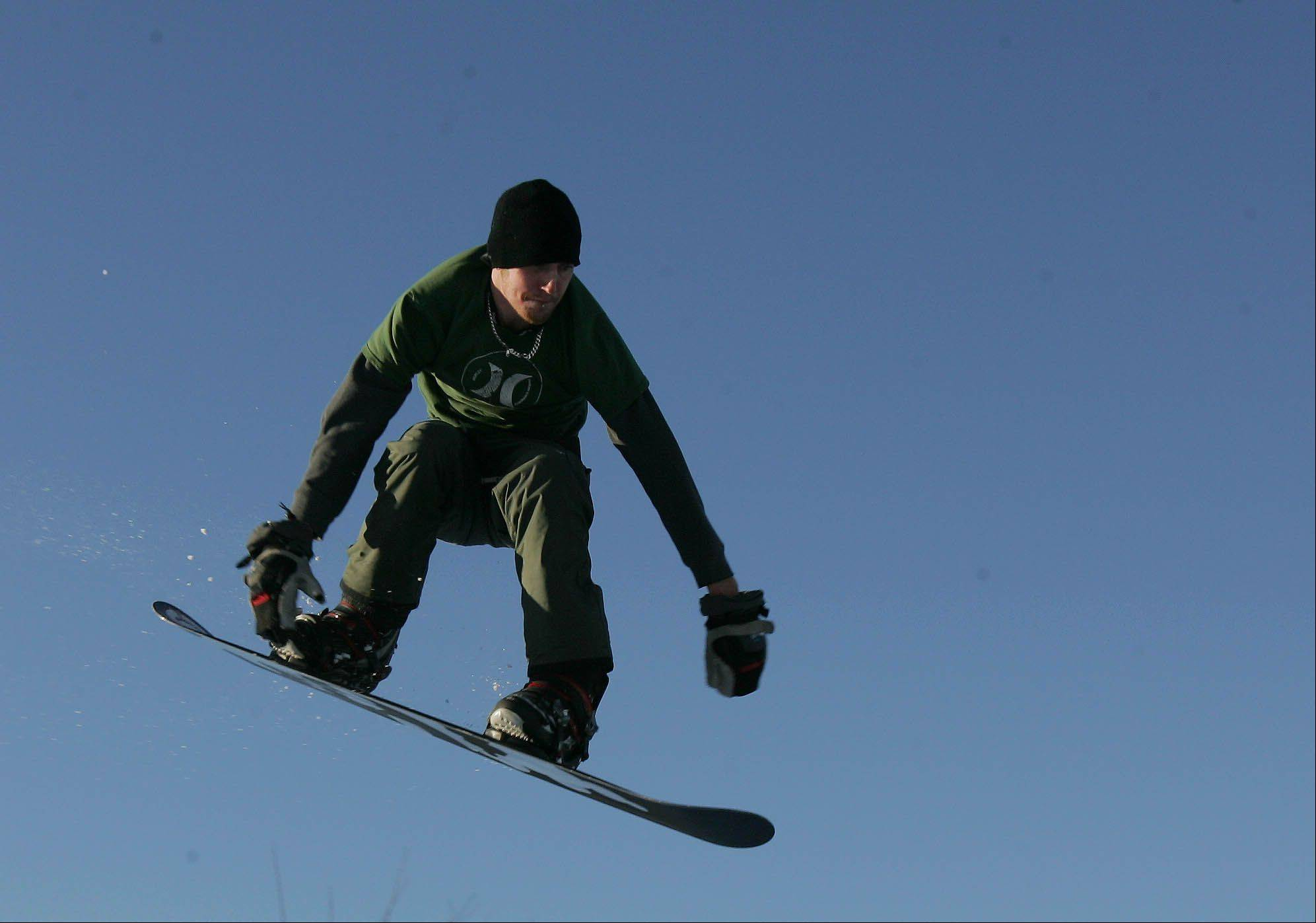 Snowboarders have a home at Four Lakes, and those who want to learn the sport can take lessons.