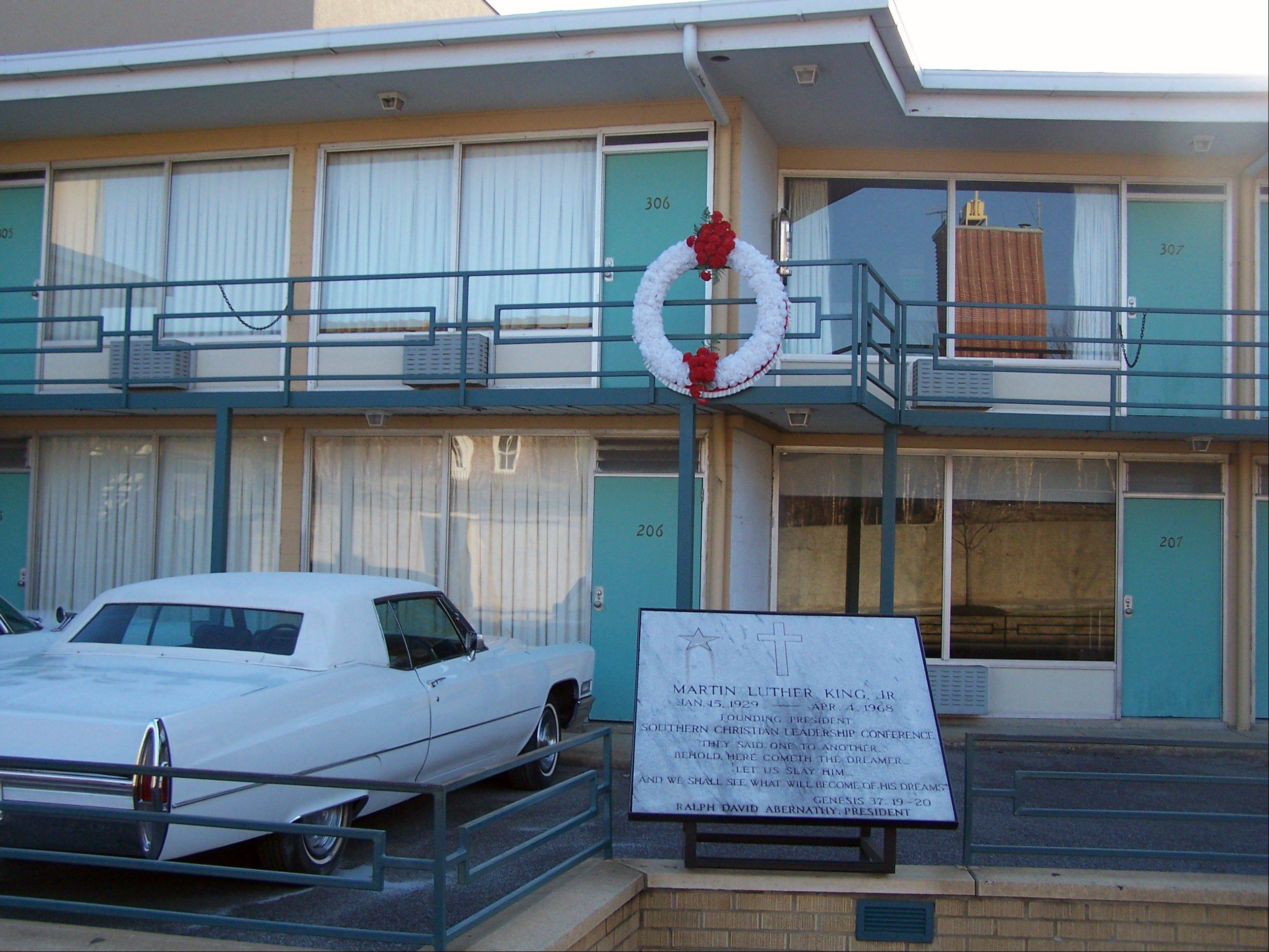This photo released by the National Civil Rights Museum shows outside of the National Civil Rights Museum which is located at the Lorraine Motel is the assassination site of Dr. Martin Luther King, Jr. The museum chronicles key episodes of the American civil rights movement and the legacy of the movement.