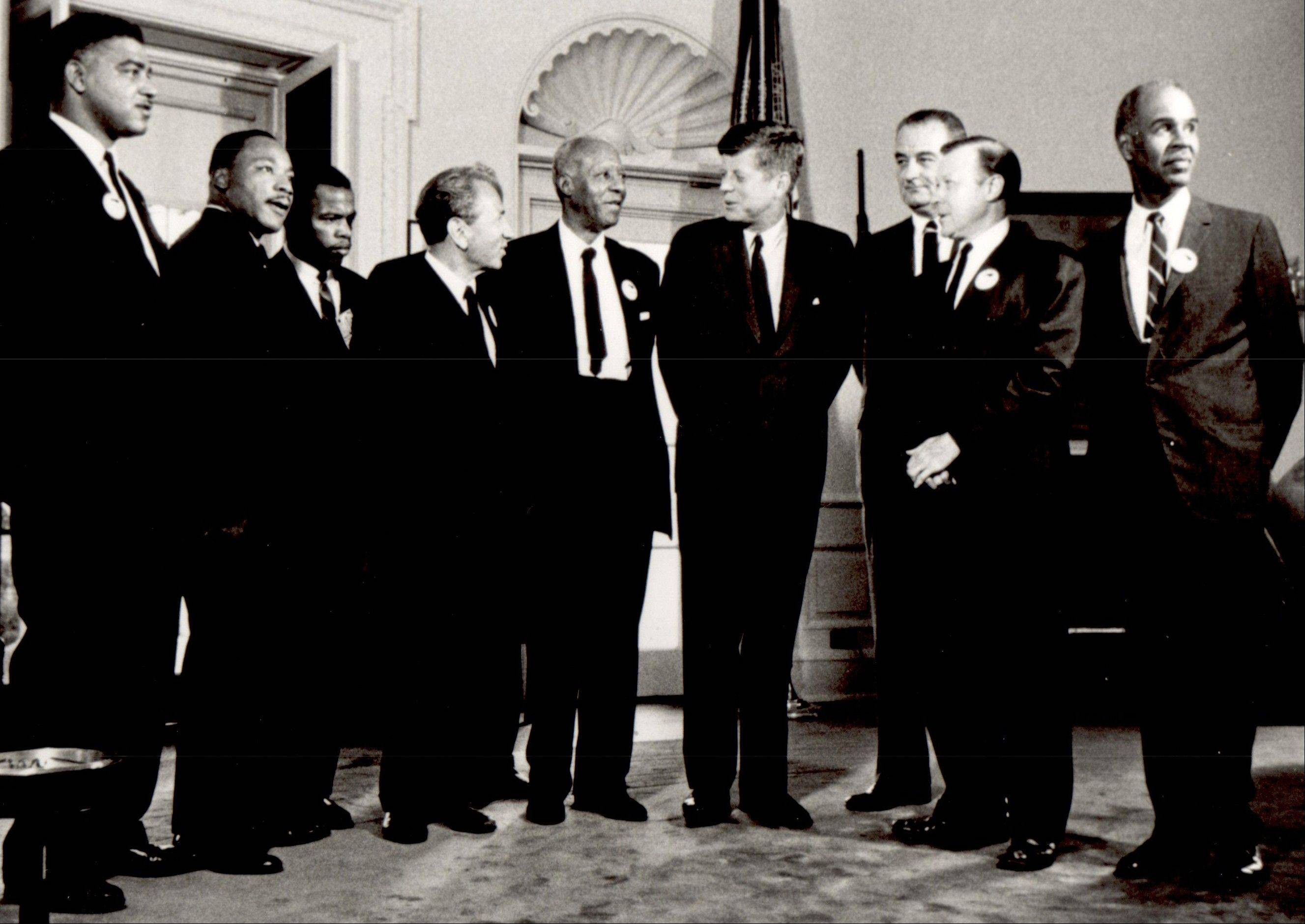 President John F. Kennedy meets with civil rights leaders in this undated photo.