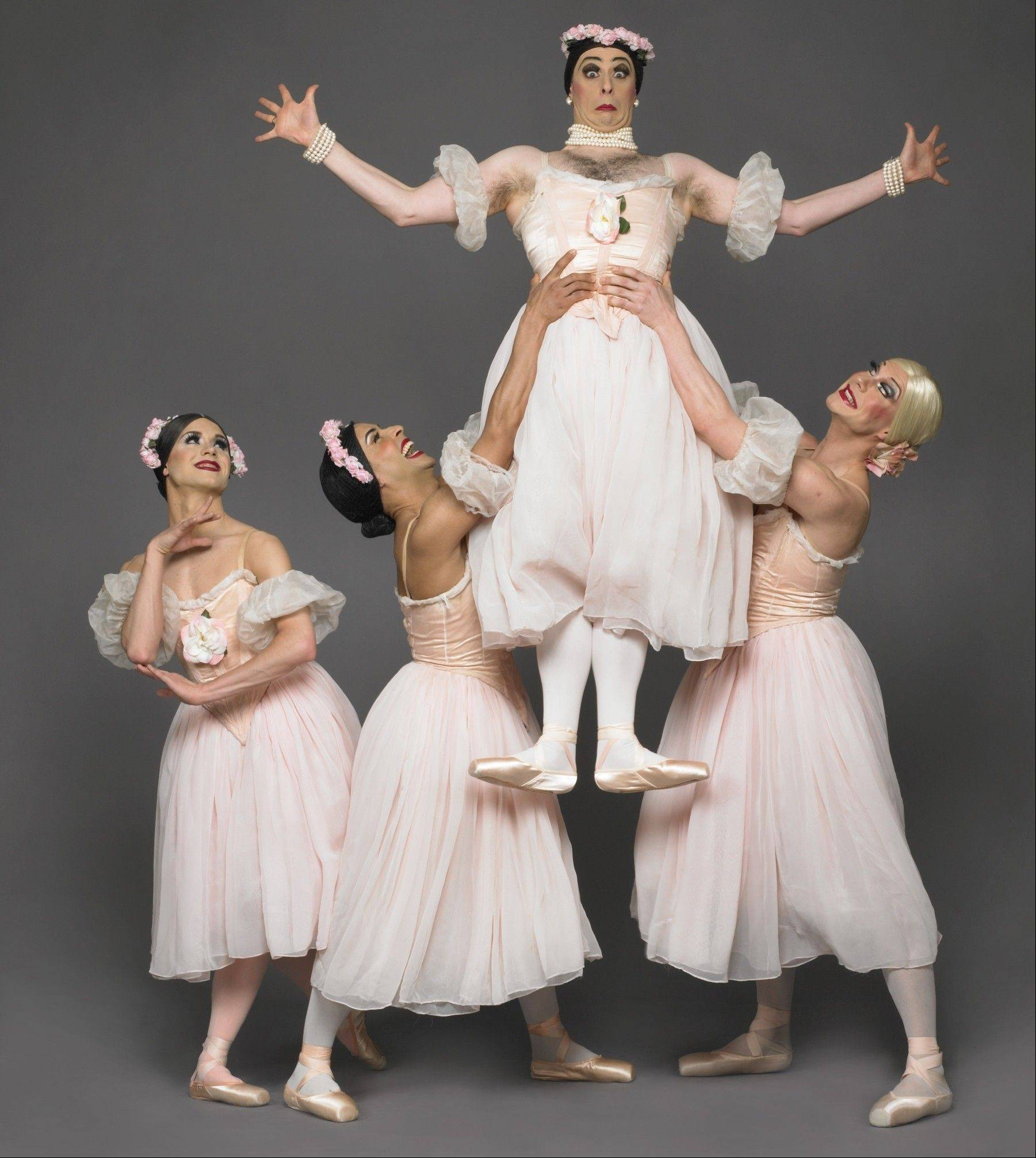 The famed male drag ballet troupe Les Ballets Trockadero de Monte Carlo returns to Millennium Park's Harris Theater for Music and Dance in Chicago on Tuesday, Jan. 24.