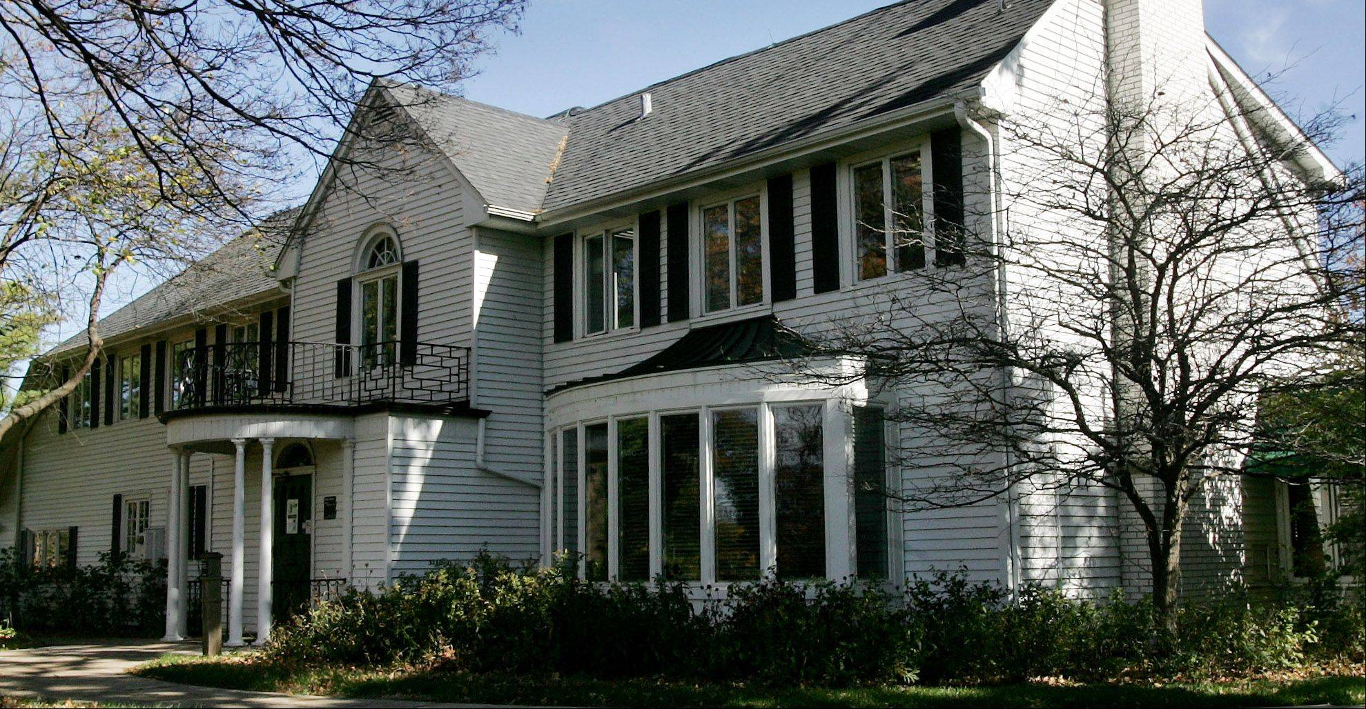 The former Lake County Forest Preserve District headquarters in a 1920s-era house off Milwaukee Avenue north of Libertyville will be used as a construction office.