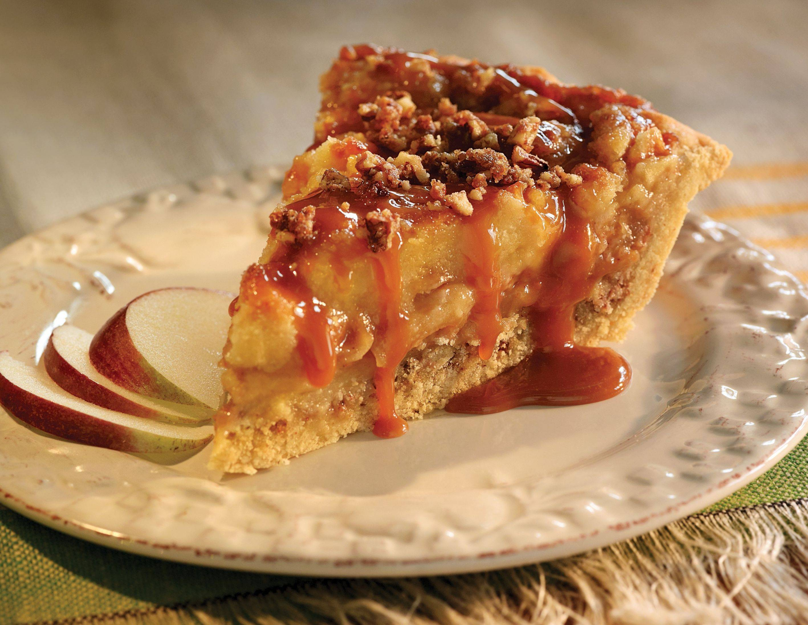 Celebrate National Pie Day on Jan. 23 with a decadent slice of Laura's Sticky Toffee Pudding Apple Pie.