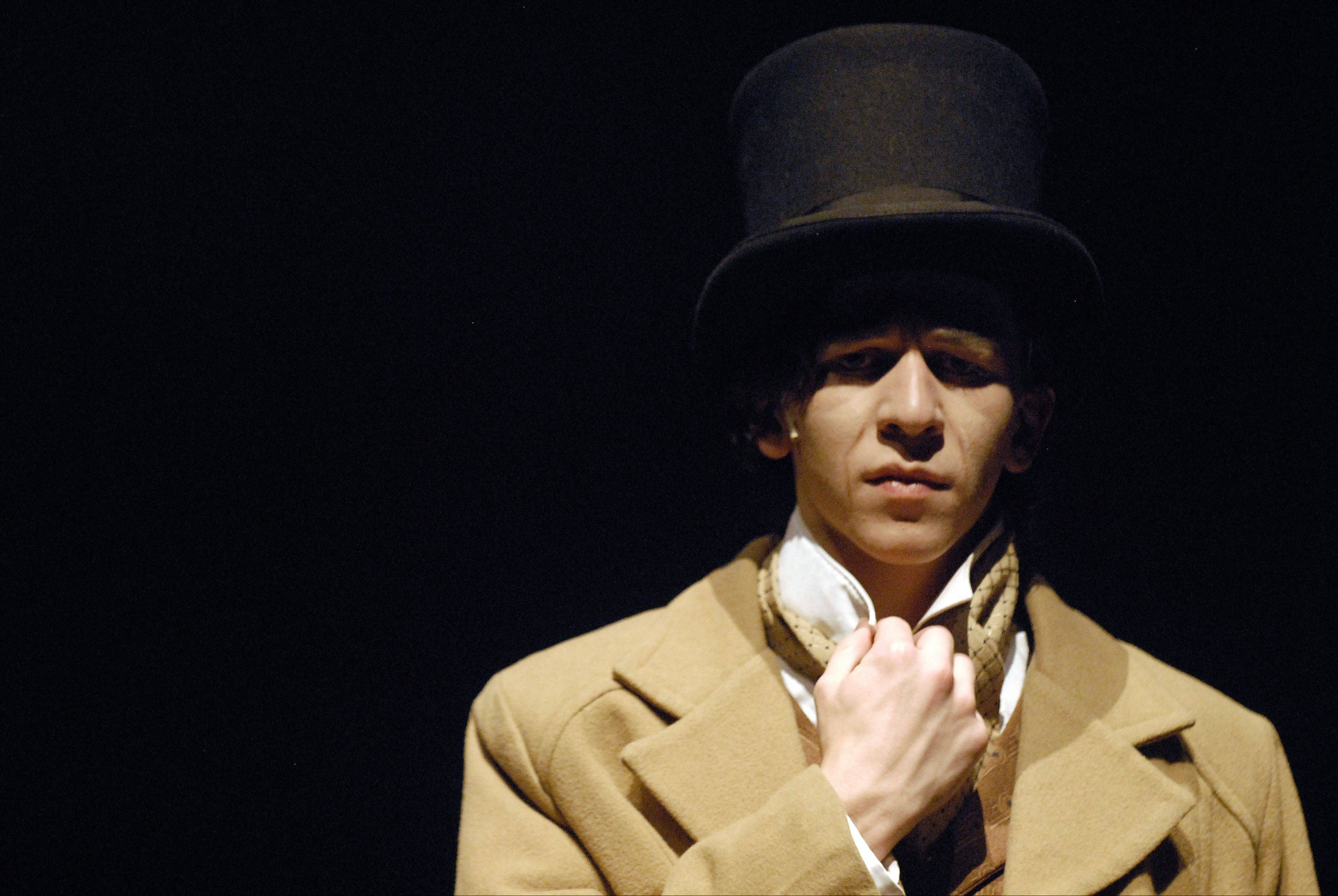 "Senior Charles Grimse is Pip in Batavia High School's production of Charles Dickens' ""Great Expectations."""