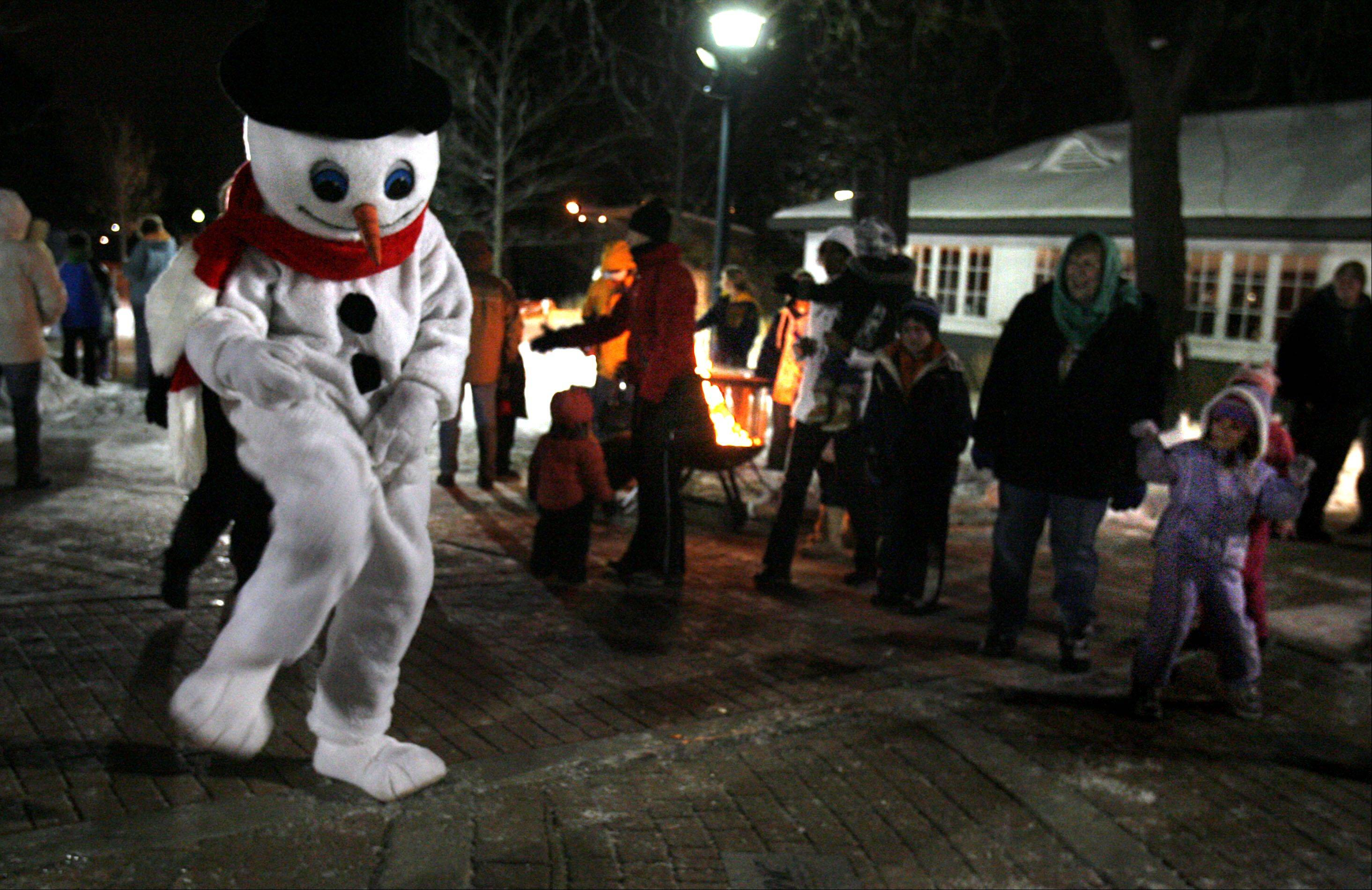 Frosty was spotted dancing at the Frosty Fest at Viking Park in Gurnee.