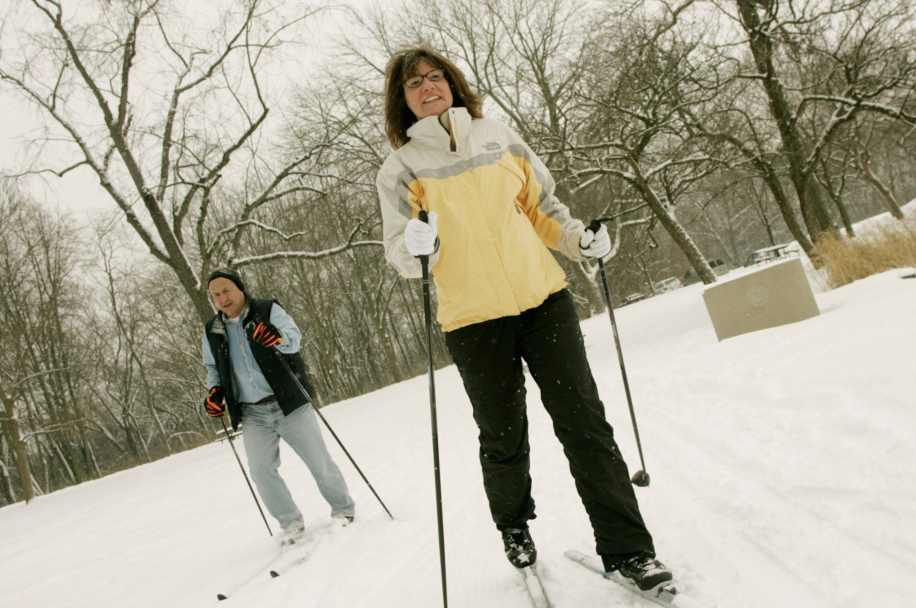 Those hoping to take a cross-country skiing class through the Wheaton Park District are hoping for a few inches of snow so they can hit the trails.