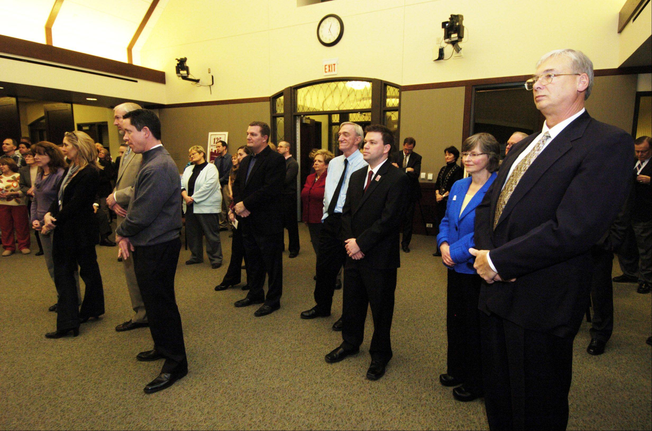 About 100 people attended a reception Wednesday marking the date of Arlington Heights' incorporation 125 years ago.
