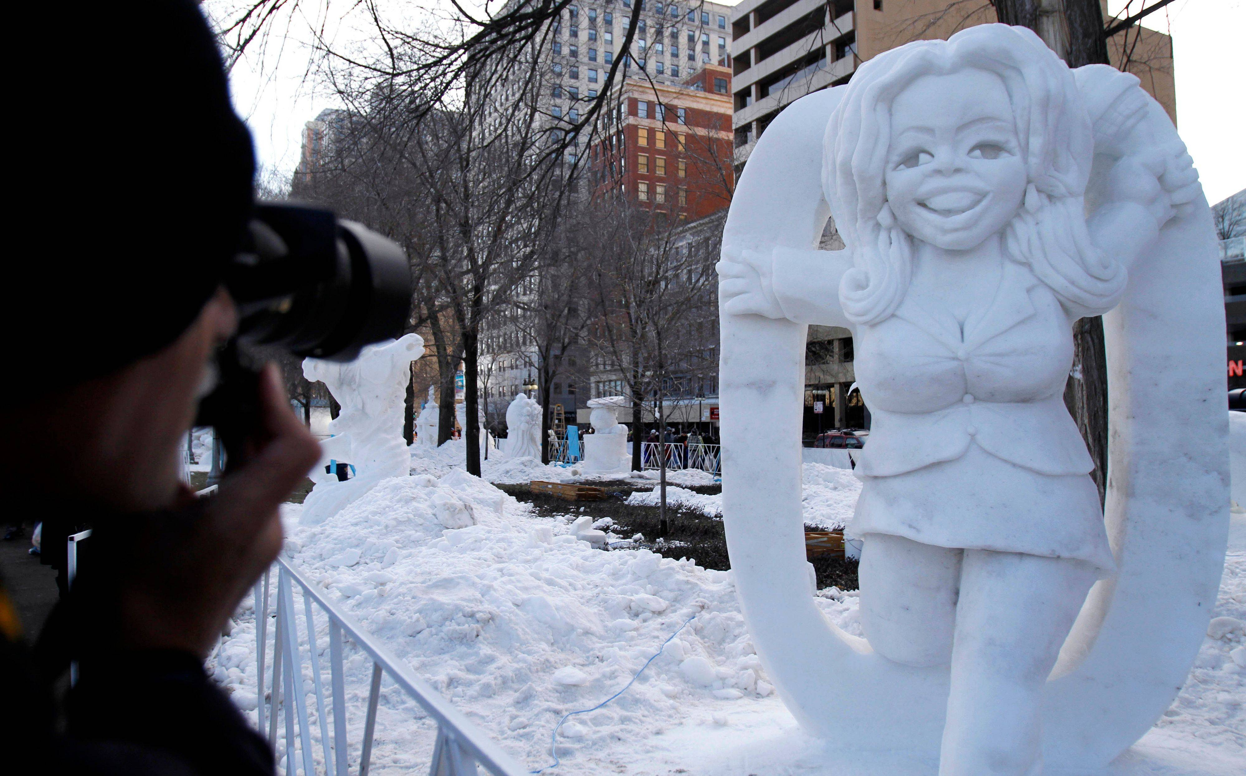 "A ""SnOpra"" snow sculpture made an impression at a previous edition of Snow Days Chicago."