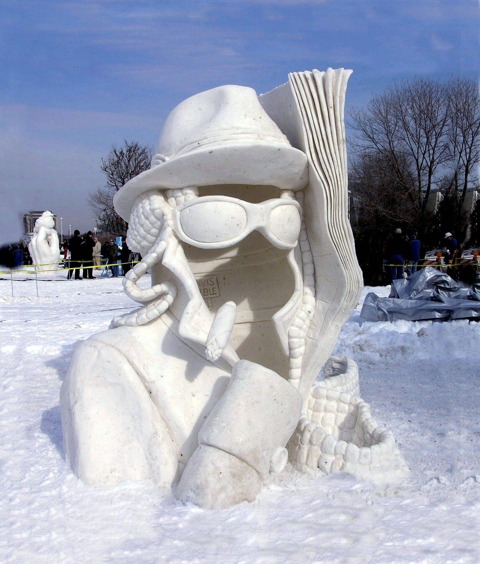 """The Invisible Man"" by Wisconsin snow sculptor David Andrews made an appearance when Snow Days were still in Mount Prospect. The festival is now in its second year at Navy Pier in Chicago."