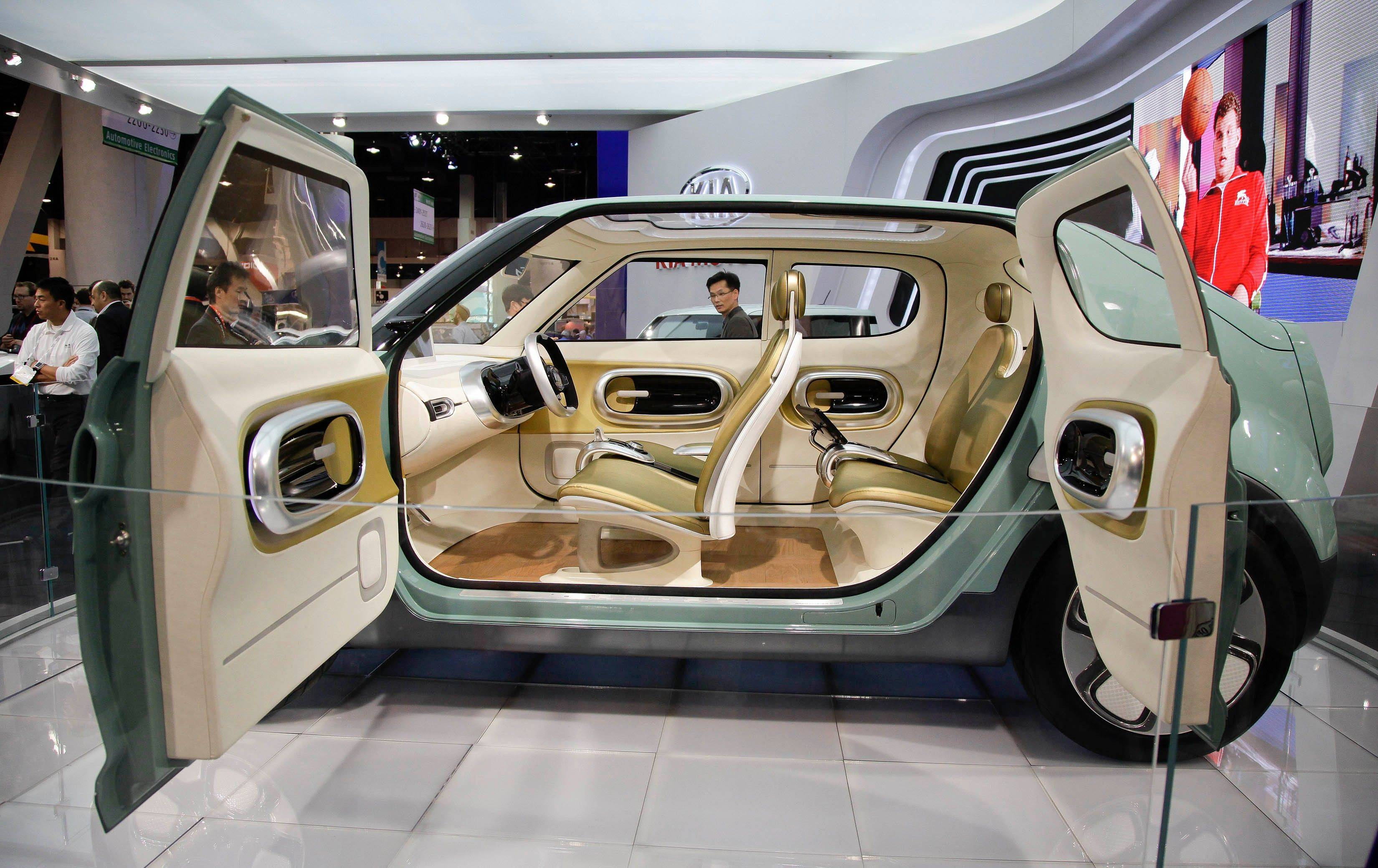 The Kia Naimo concept car is displayed at the 2012 International Consumer Electronics show.