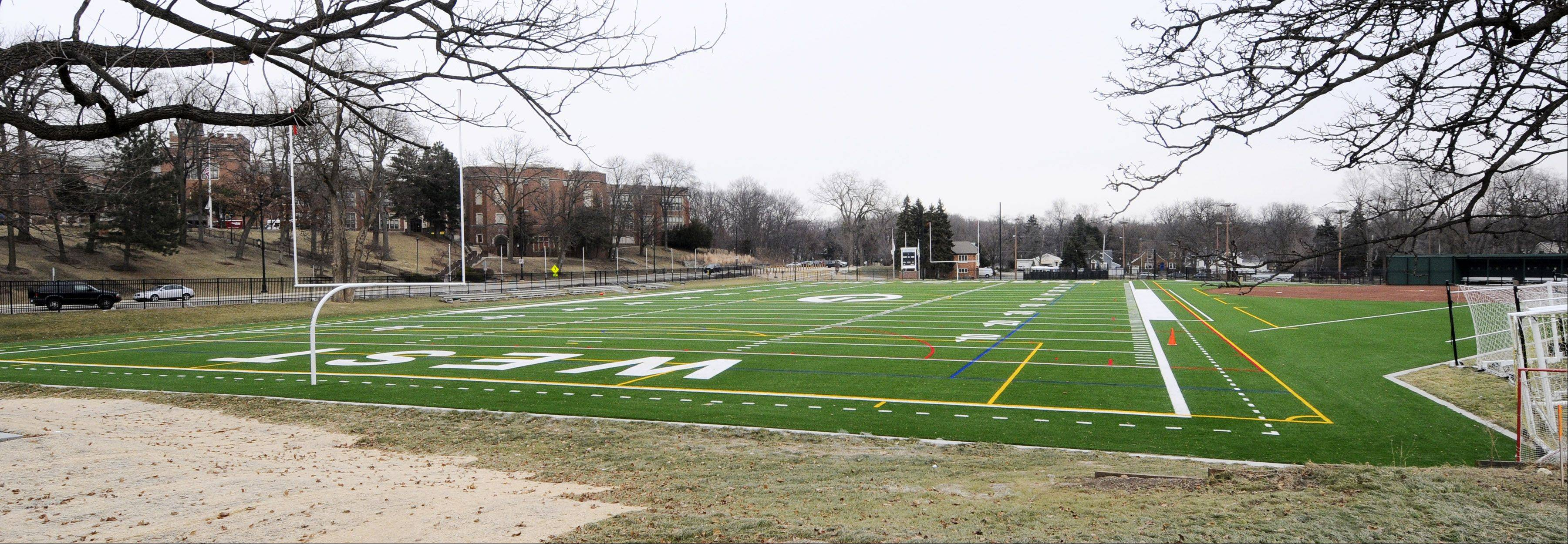 The Glen Ellyn village board will discuss a proposal from Glenbard High School District 87 to install lights at Memorial Field, across from Glenbard West High School.