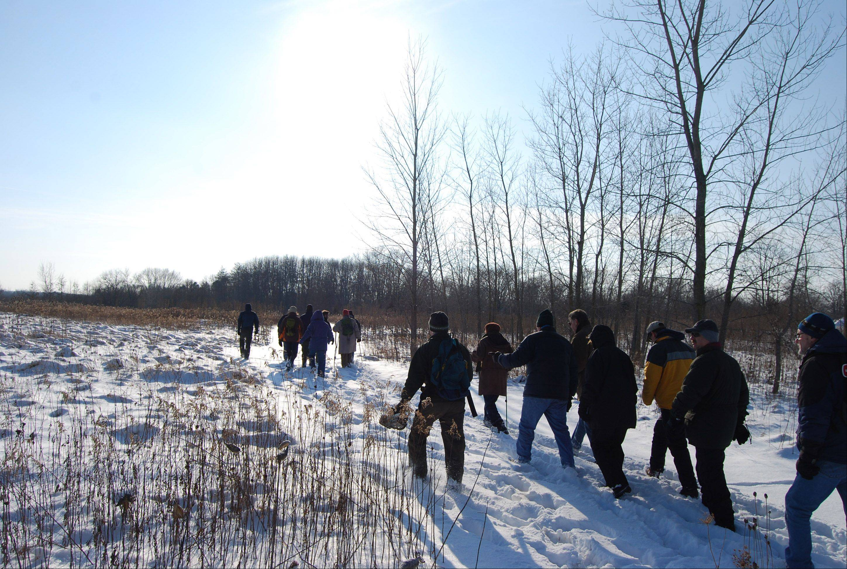 The Liberty Prairie Conservancy and the Sierra Club recently organized a hike along the possible path of an extended Route 53.