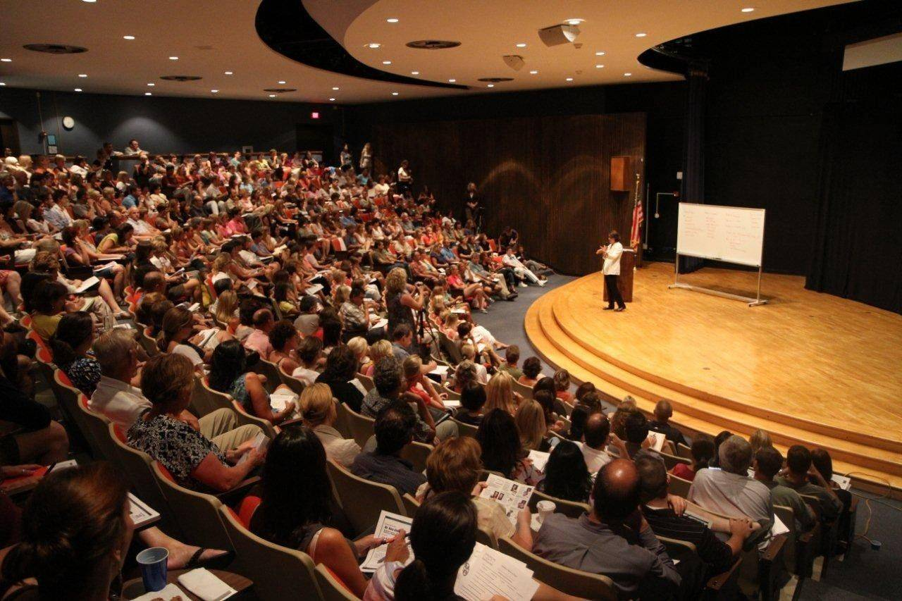 The Glenbard Parent Series often packs school auditoriums, such as this Aug. 24 event when author Dr. Madeline Levine spoke about parental privilege and materialism creating a generation of disconnected and unhappy kids.