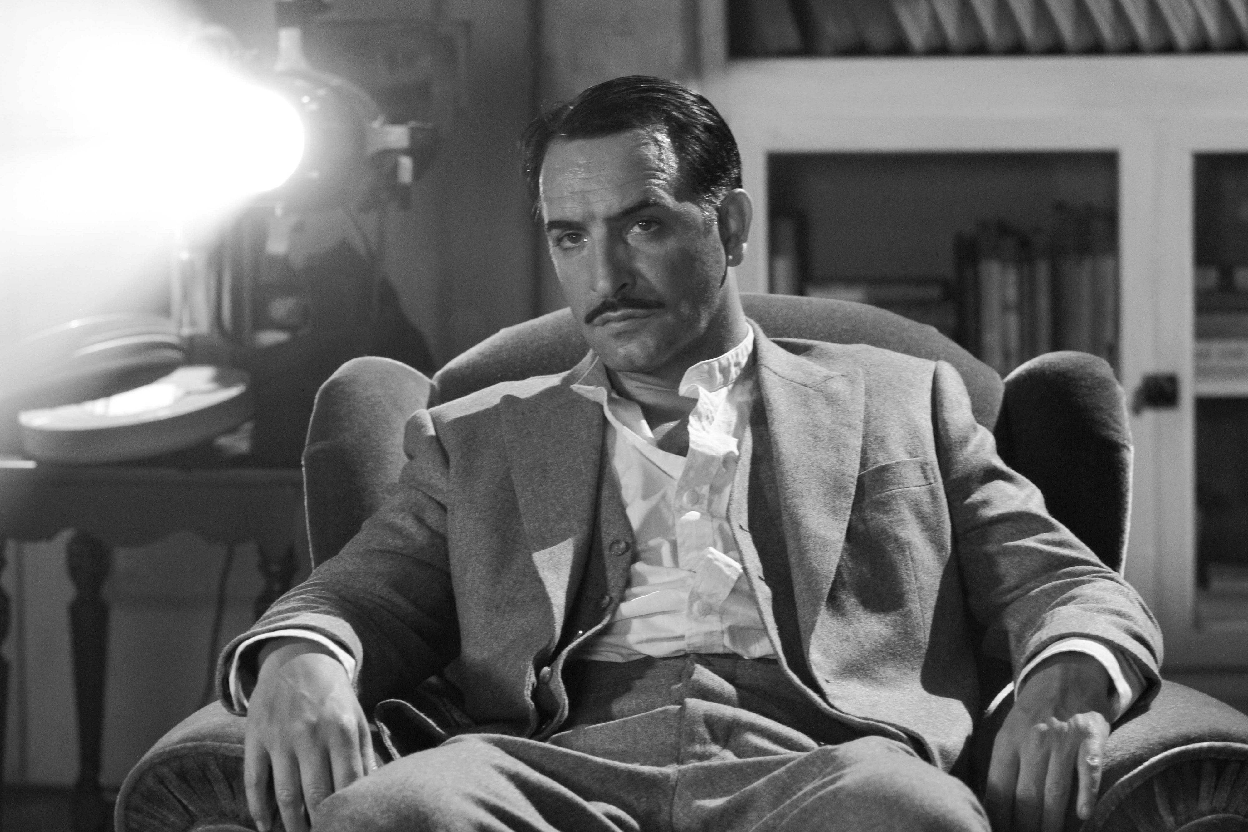 "In this film publicity image released by The Weinstein Company, Jean Dujardin portrays George Valentin in ""The Artist."" Dujardin was nominated Tuesday, Jan. 24, 2012 for an Academy Award for best actor for his role in the film."