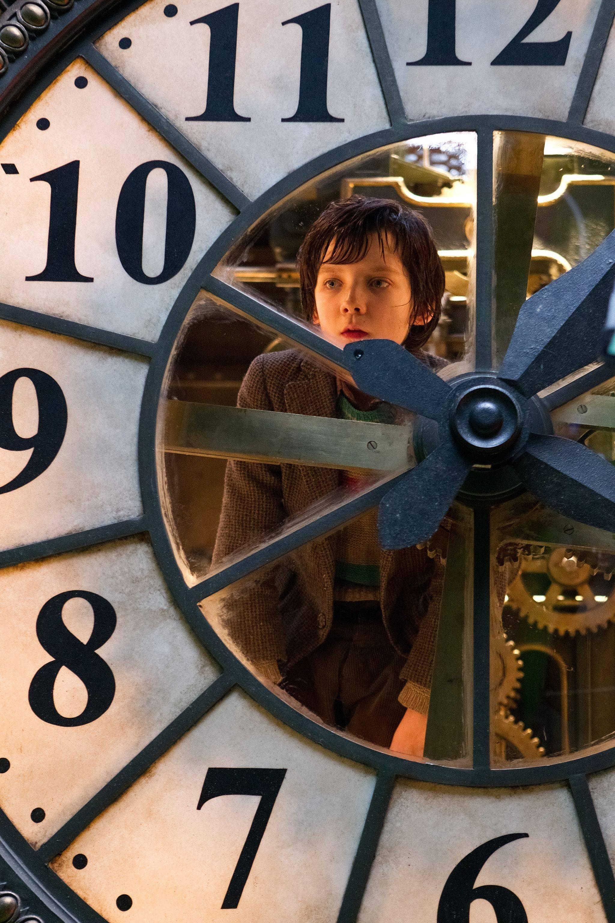 "In this image released by Paramount Pictures, Asa Butterfield portrays Hugo Cabret in a scene from ""Hugo."" The film was nominated Tuesday, Jan. 24, 2012 for an Oscar for best film."