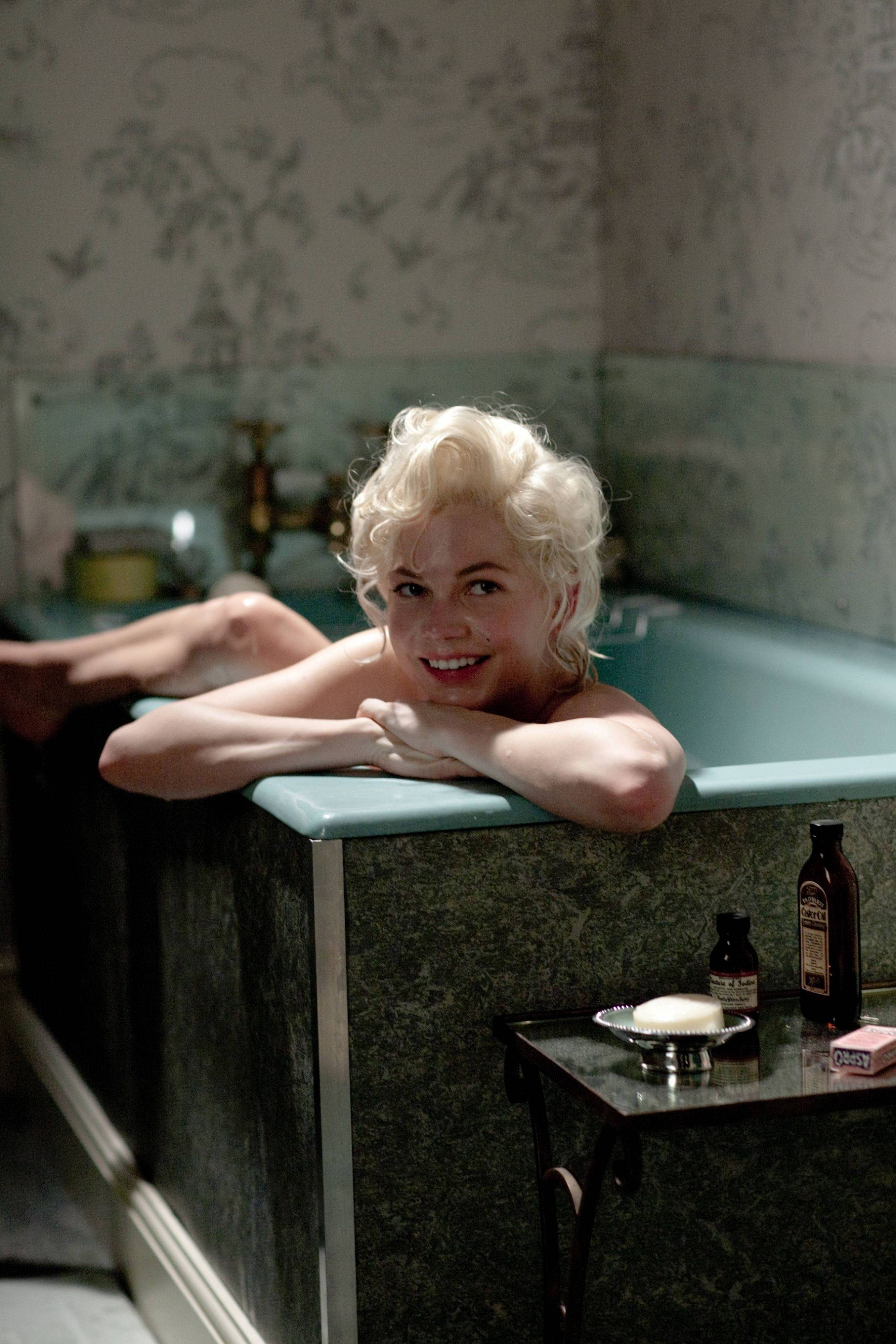 "In this film publicity image released by The Weinstein Company, Michelle Williams portrays Marilyn Monroe in a scene from ""My Week with Marilyn."" Williams was nominated Tuesday, Jan. 24, 2012 for an Academy Award for best actress for her role in the film."