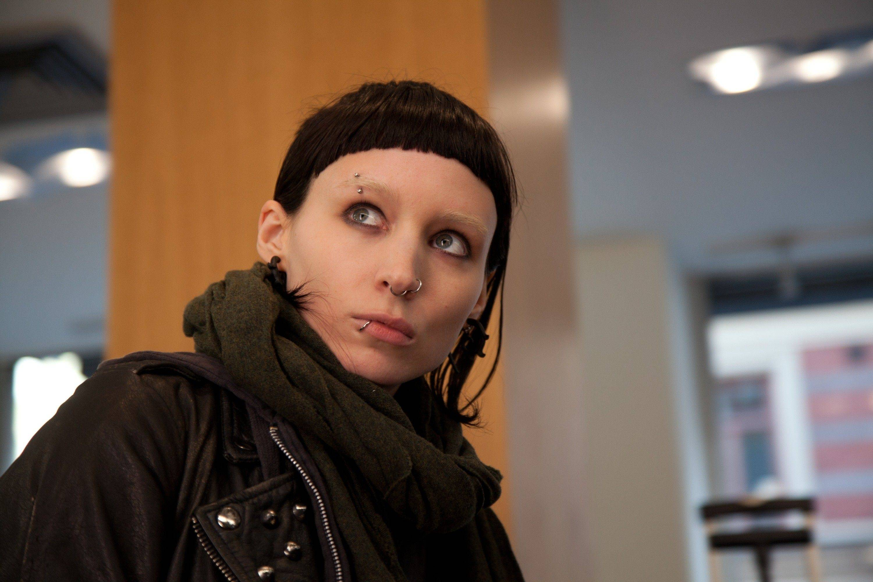 "In this film image released by Sony Pictures, Rooney Mara is shown in a scene from ""The Girl With The Dragon Tattoo."" Mara was nominated Tuesday, Jan. 24, 2012 for an Academy Award for best actress for her role in the film."