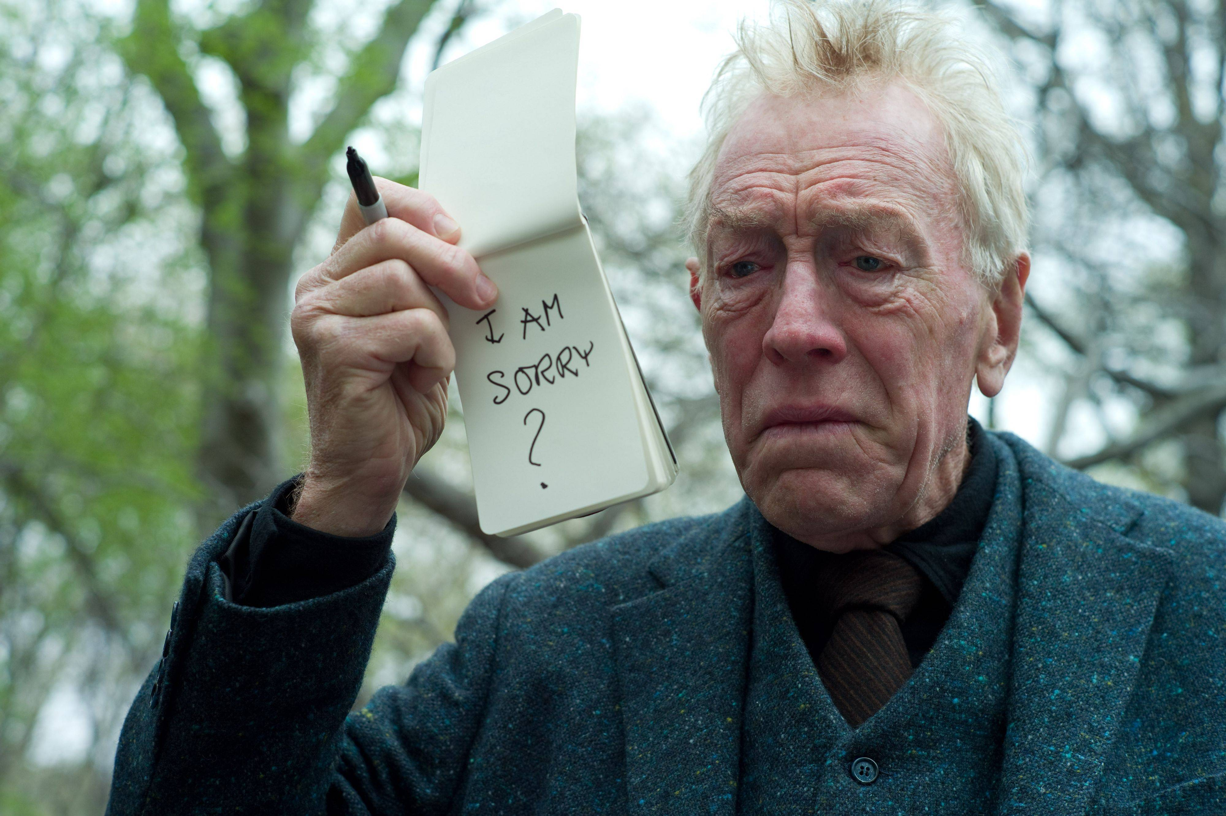 "In this image released by Warner Bros. Pictures, Max Von Sydow is shown in a scene from in a scene from ""Extremely Loud & Incredibly Close ."" Von Sydow was nominated Tuesday, Jan. 24, 2012 for Academy Award for best supporting actor for his role in the film."