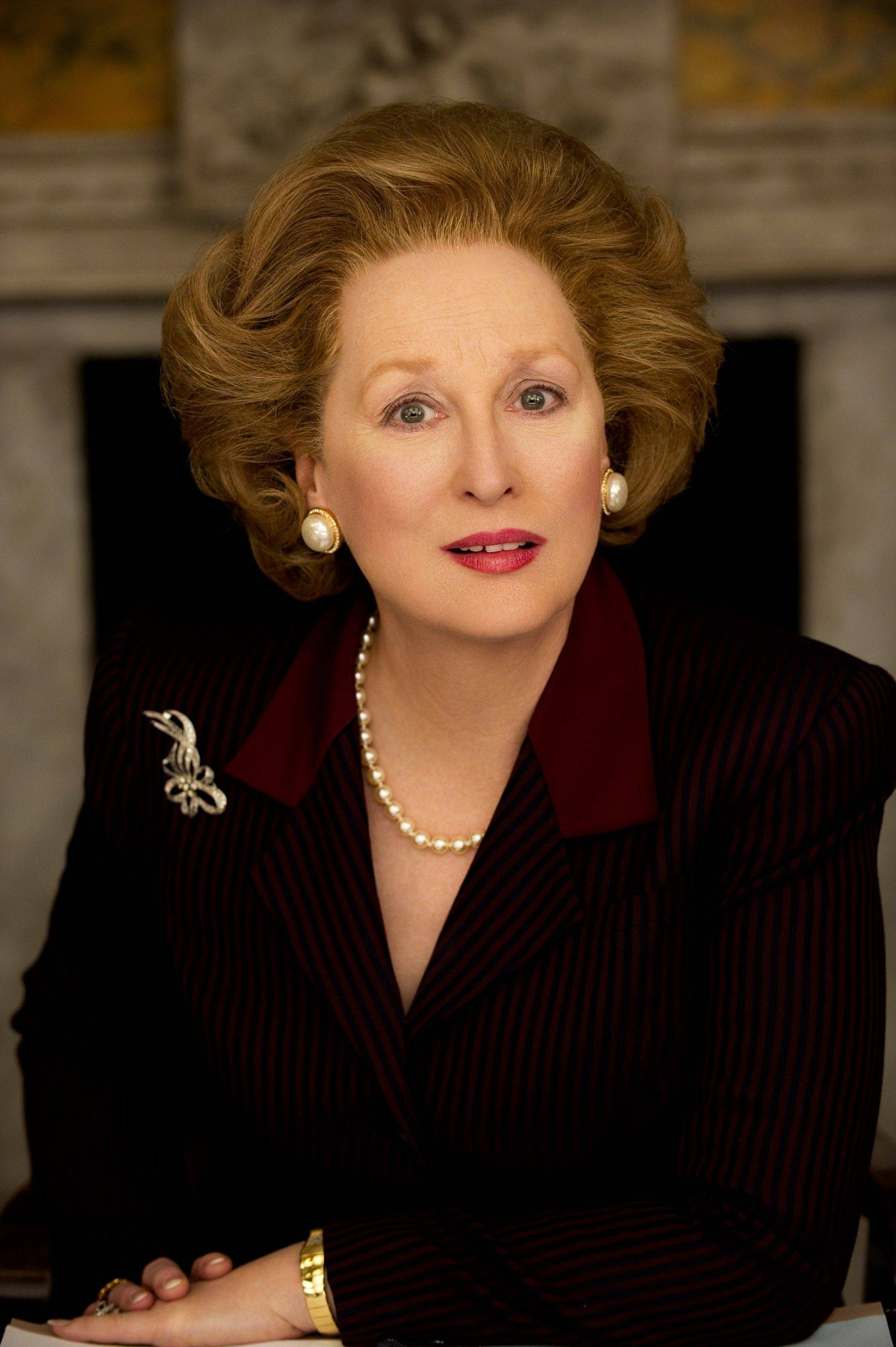 "In this film image released by The Weinstein Company, Meryl Streep portrays Margaret Thatcher in ""The Iron Lady."" Streep was nominated Tuesday, Jan. 24, 2012 for an Academy Award for best actress for her role in the film."