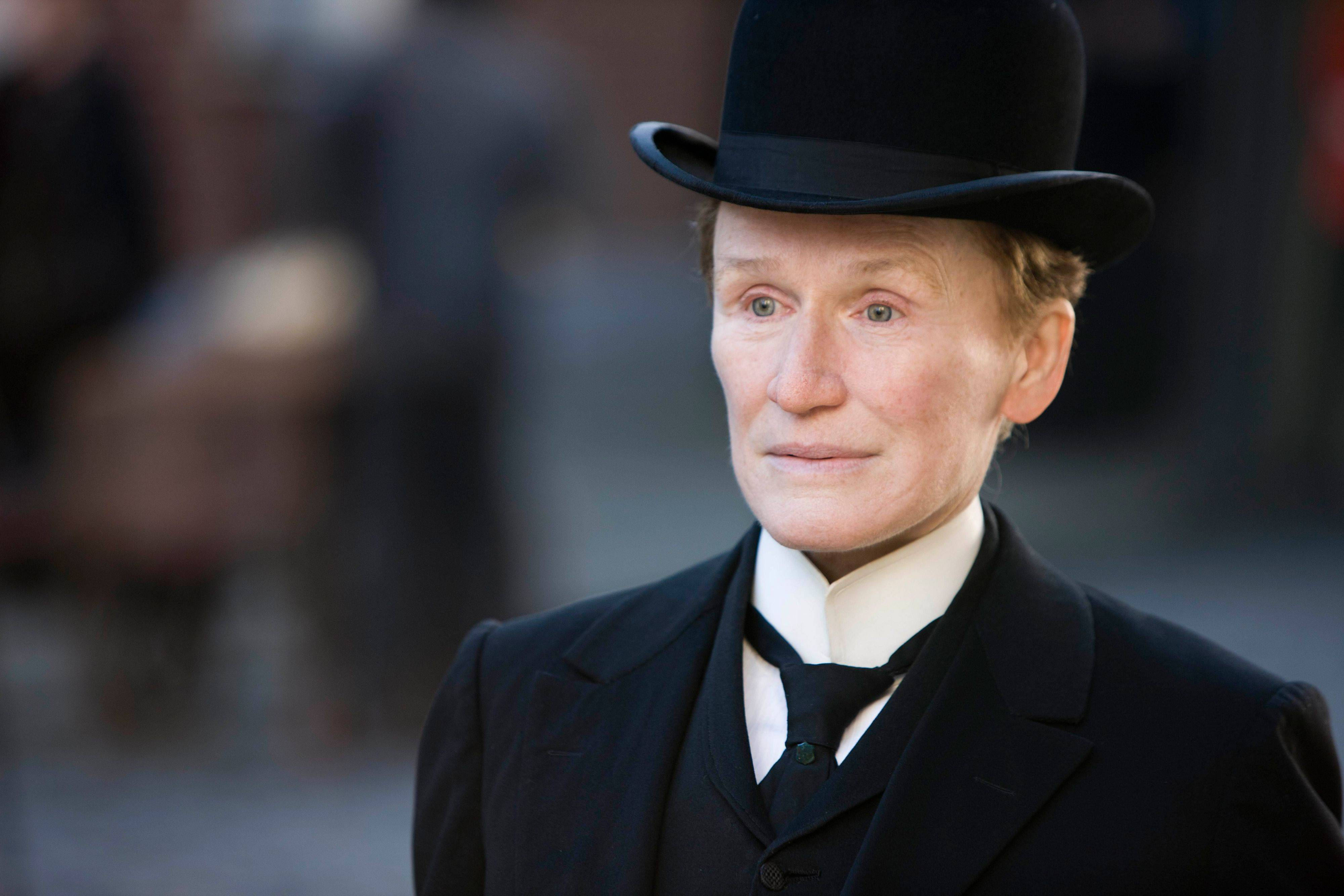 "In this film image released by Roadside Attractions, Glenn Close is shown in a scene from ""Albert Nobbs."" Close was nominated Tuesday, Jan. 24, 2012 for an Academy Award for best actress for her role in the film."