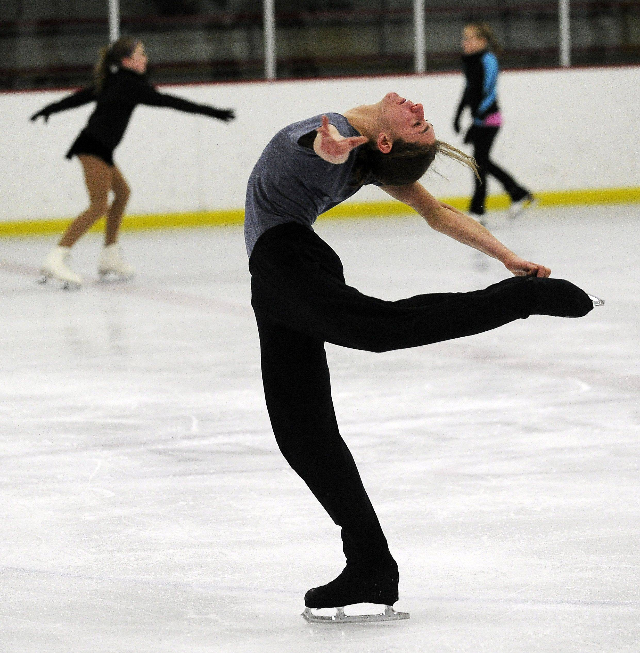 Jason Brown practices at the Twin Rinks Arena in Buffalo Grove last weekend.