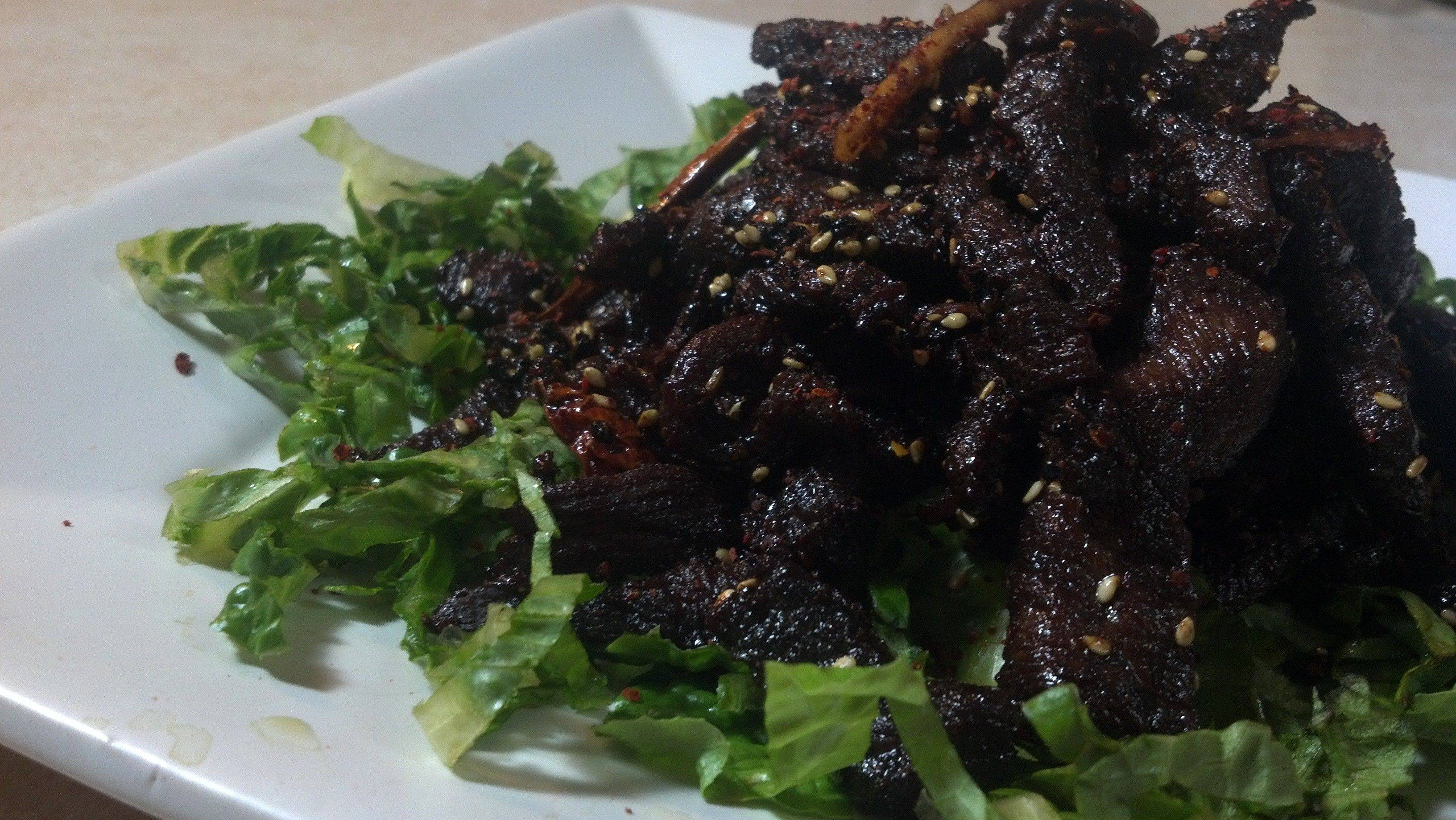 Dragon Beef for Chinese New Year feast