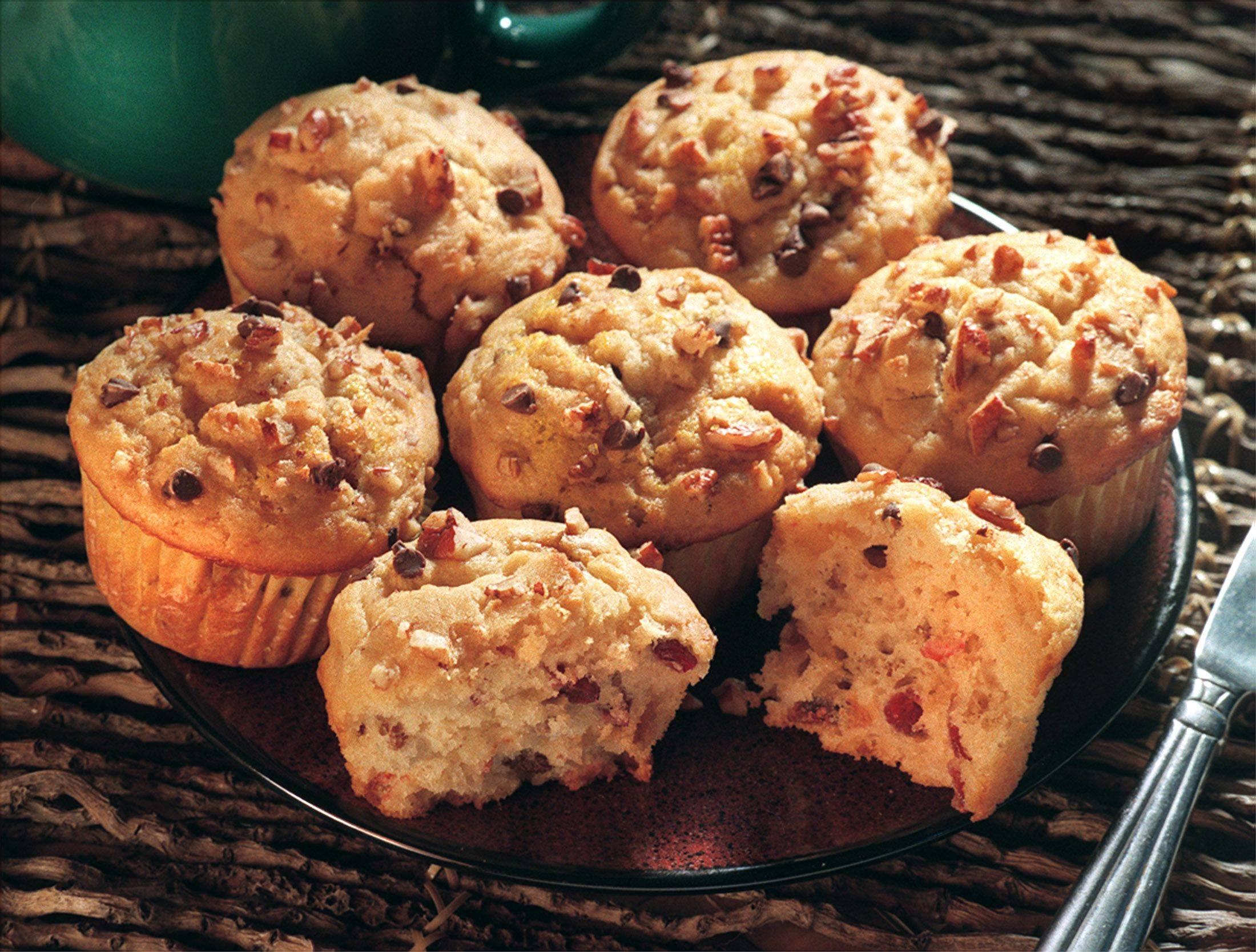 Whip up a batch of Pantry Muffins and clear the shelves of ingredients leftover from holiday baking.