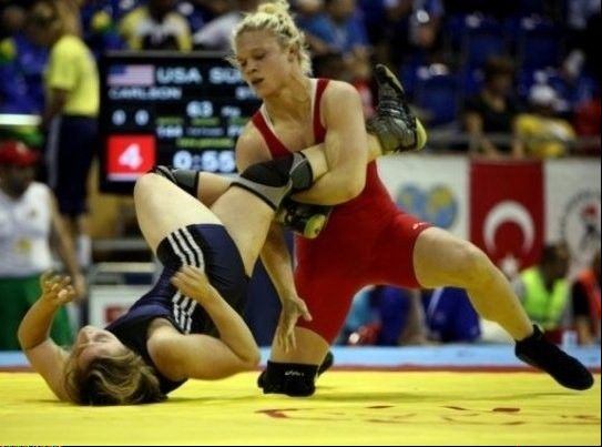 Addison woman wrestling for spot in Olympics