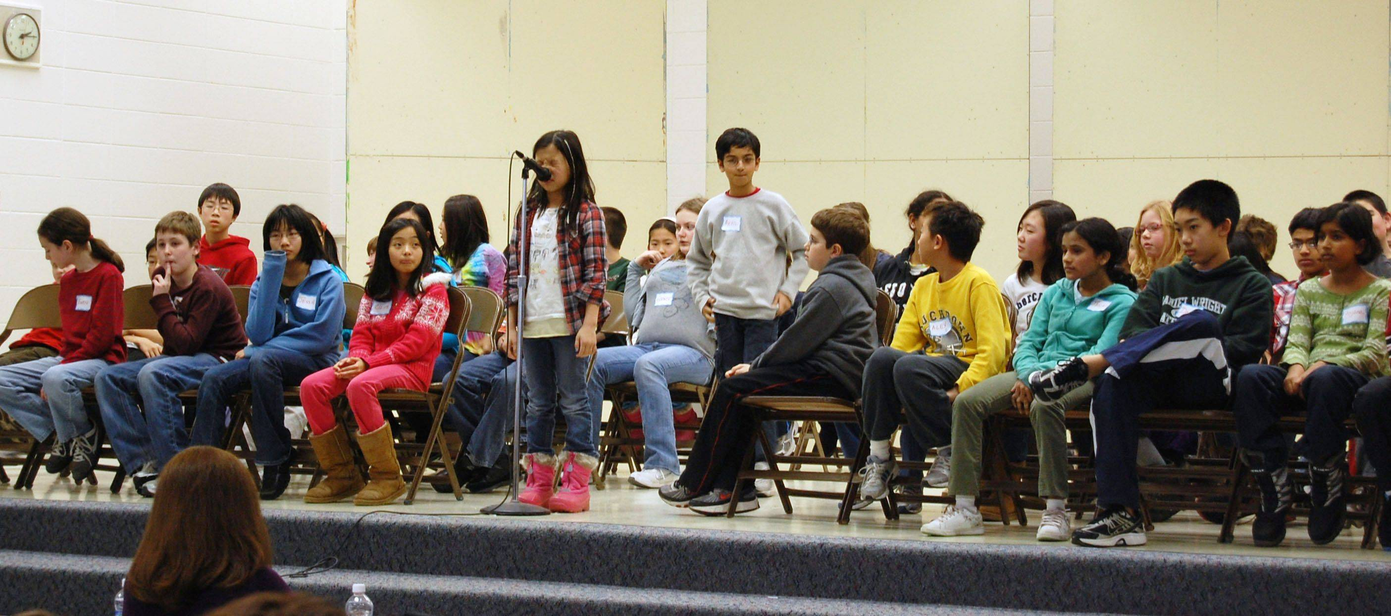 Lincolnshire-Prairie View Elementary District 103 will host its districtwide spelling bee Tuesday, Jan. 31, at Daniel Wright Junior High School.