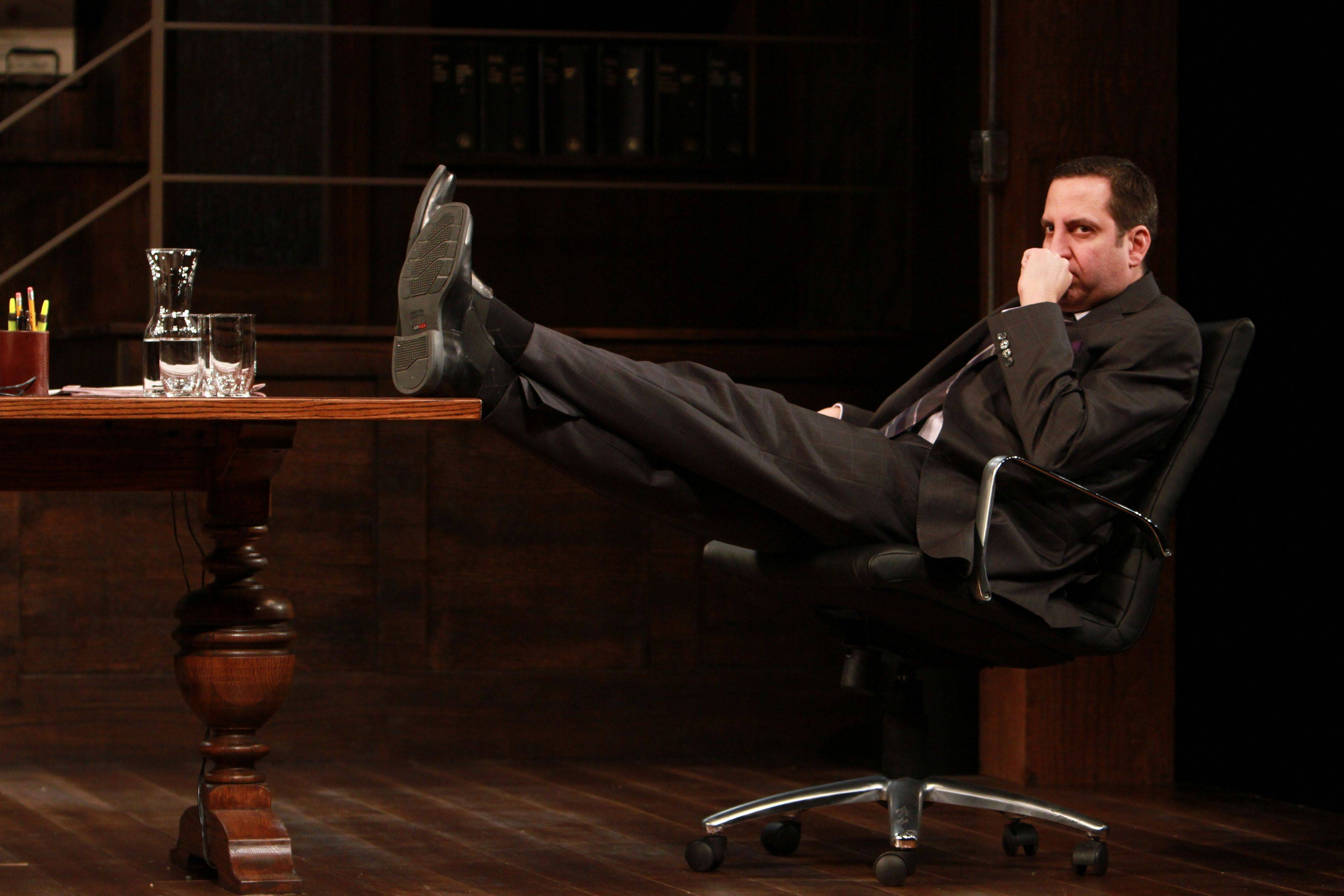 "Marc Grapey plays Jack, a smart lawyer defending a white client charged with sexually assaulting a black woman, in David Mamet's ""Race"" at Goodman Theatre."
