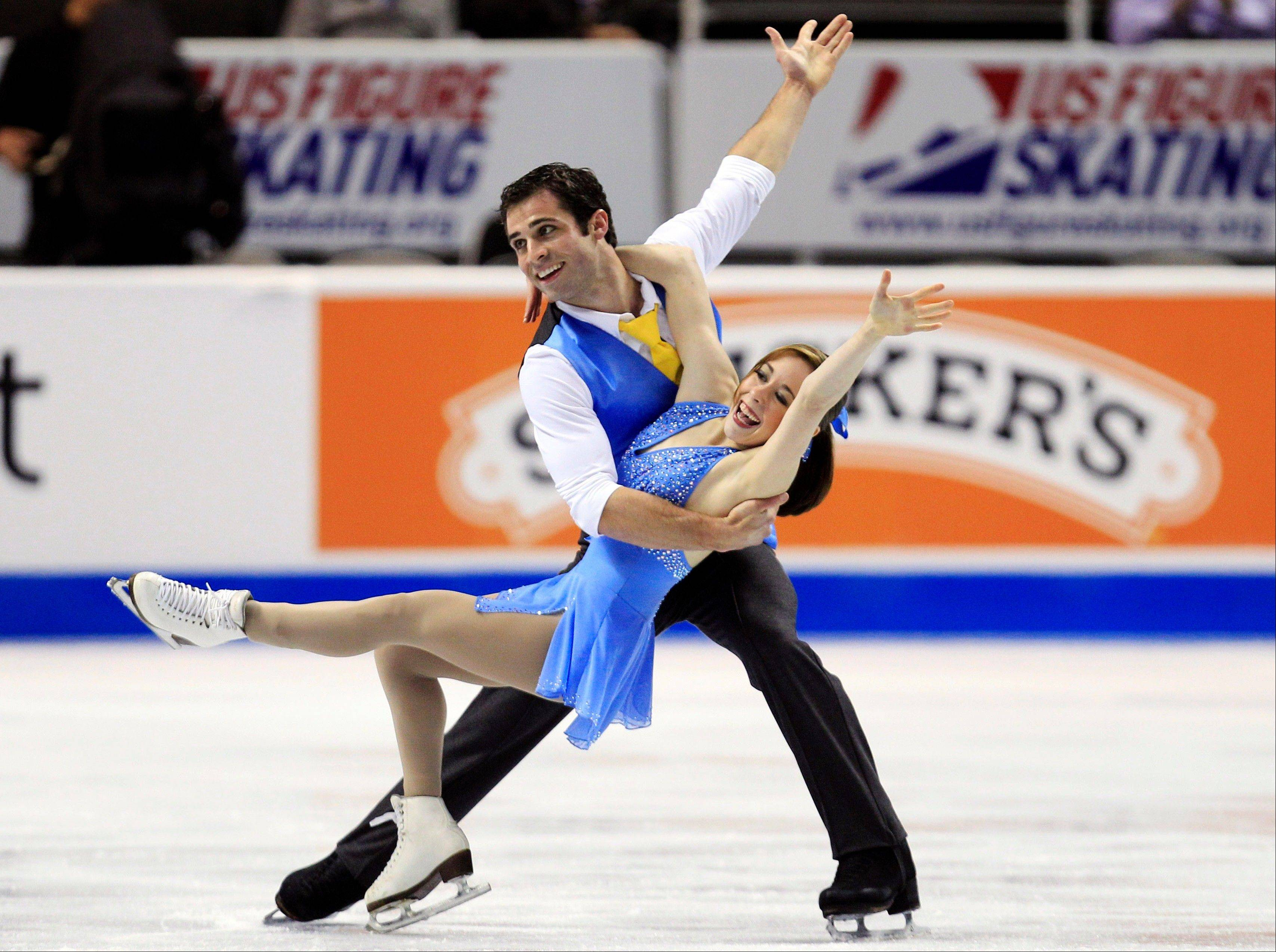 After winning two pairs titles with other partners, Algonquin's Rockne Brubaker has a shot at another with Mary Beth Marley. They took the lead in the pairs short program Thursday at the U.S. Figure Skating Championships.