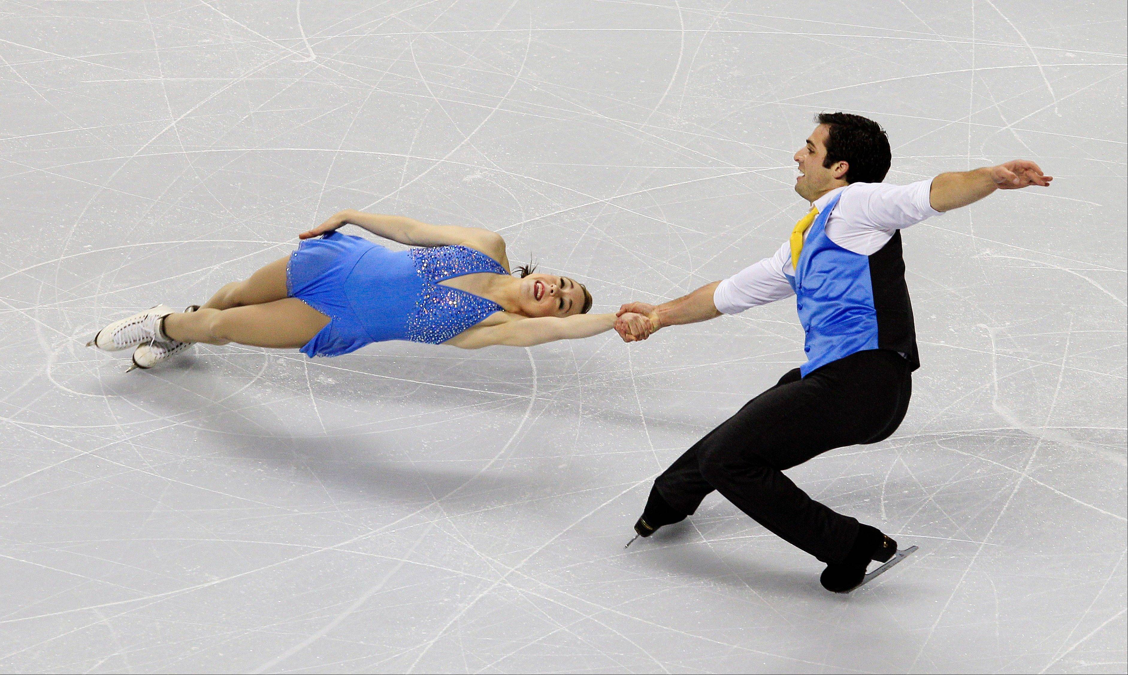 Mary Beth Marley and Rockne Brubaker perform during the pairs short program competition Thursday at the U.S. Figure Skating Championships.