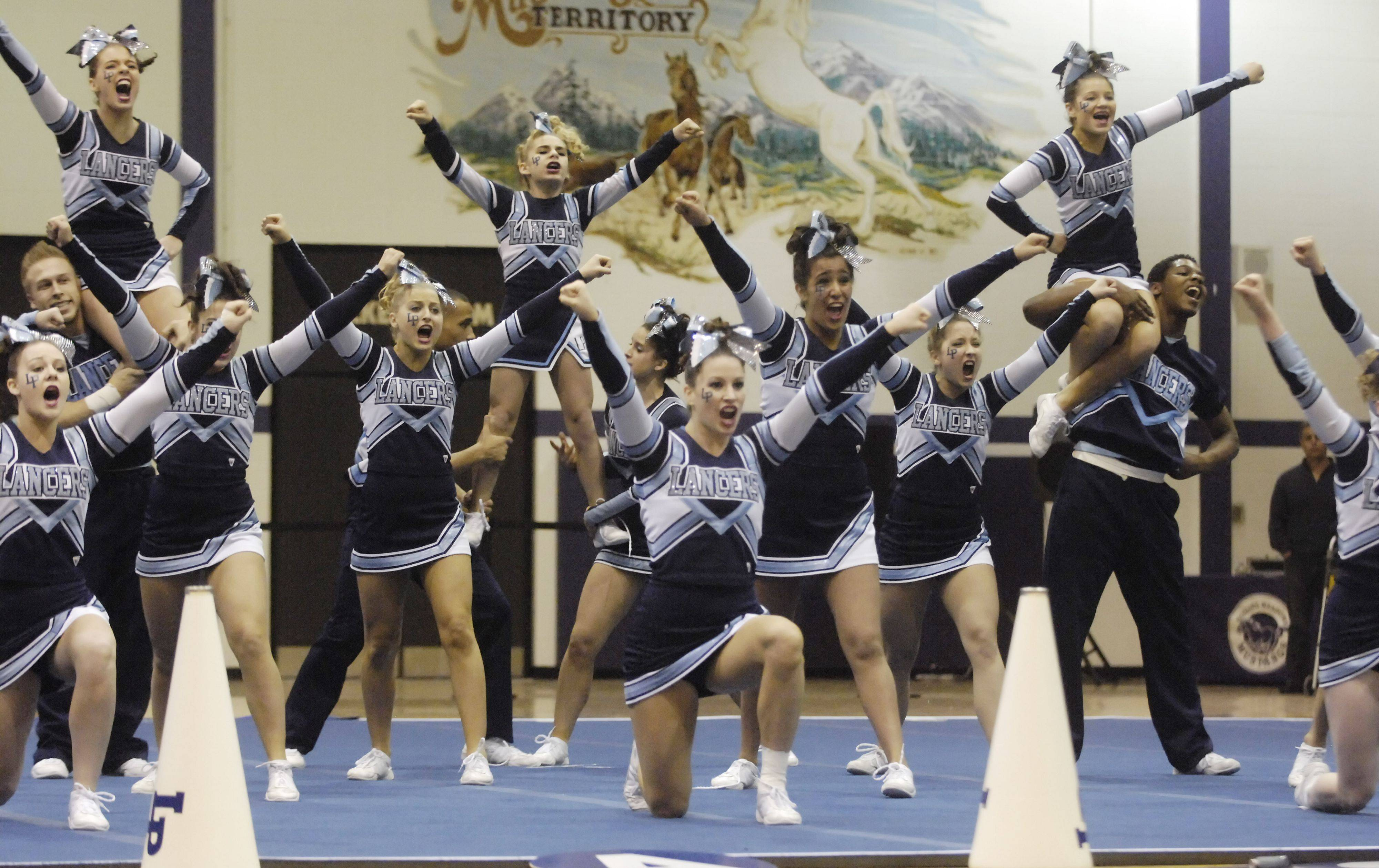 Lake Park competes during Saturday's cheerleading sectional hosted by Rolling Meadows High School.