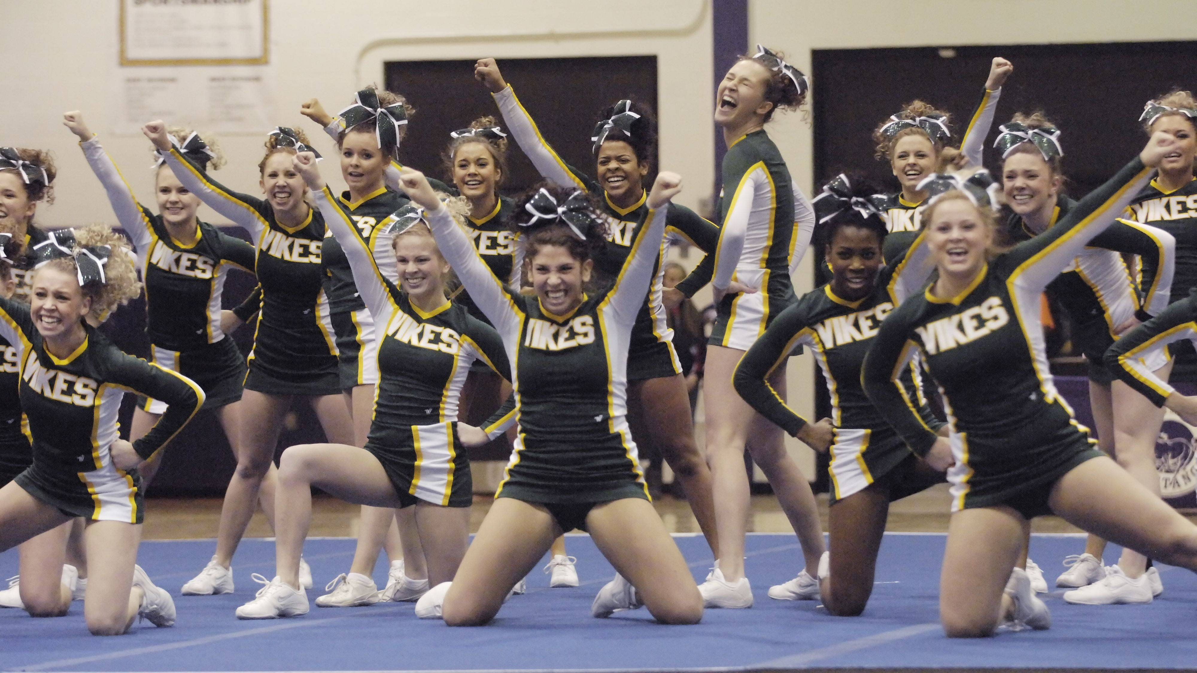 Fremd High School competes during Saturday's cheerleading sectional hosted by Rolling Meadows High School.