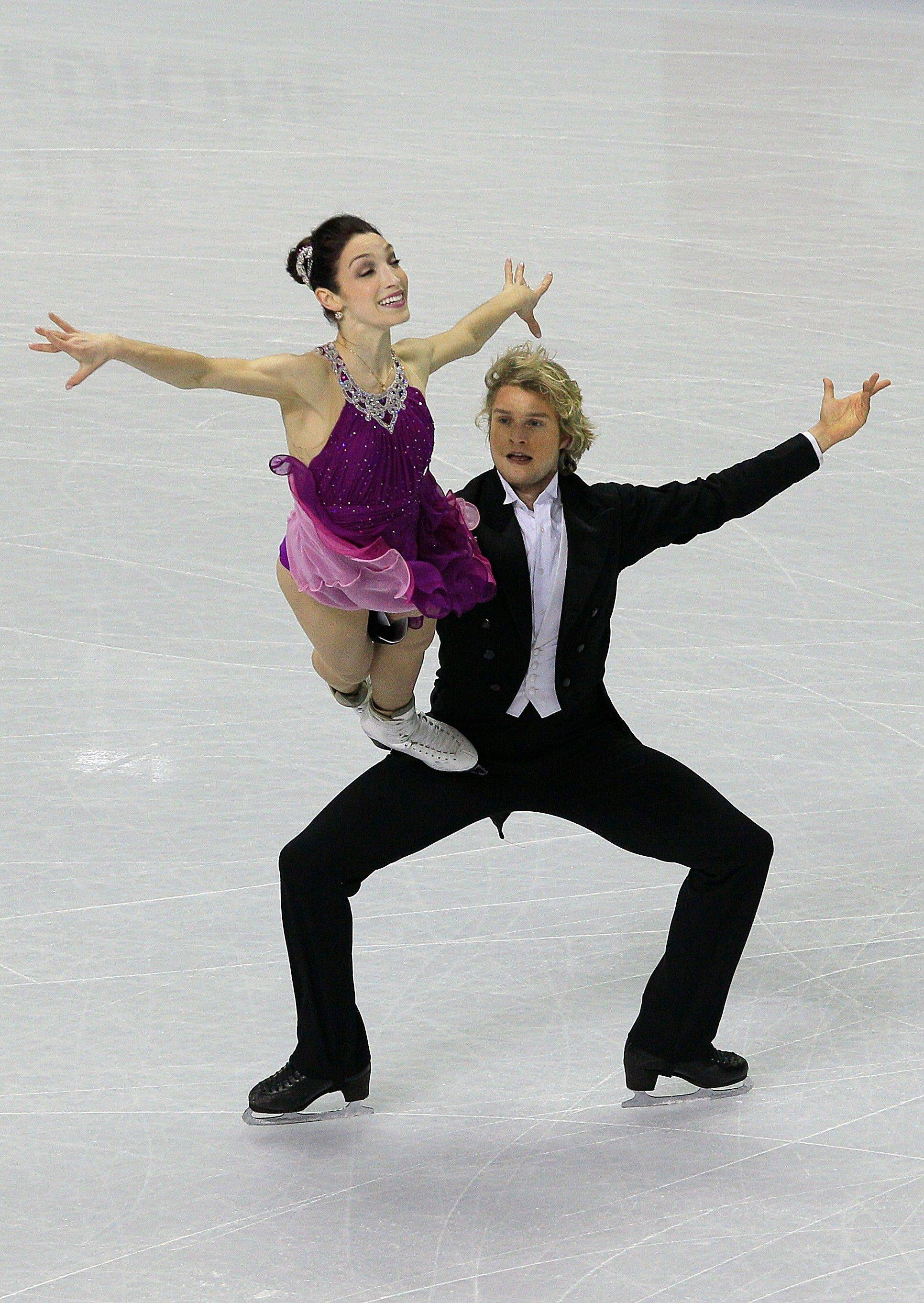 Meryl Davis and Charlie White compete in their free dance Saturday in the ice dancing event at the U.S. Figure Skating Championships in San Jose, Calif.
