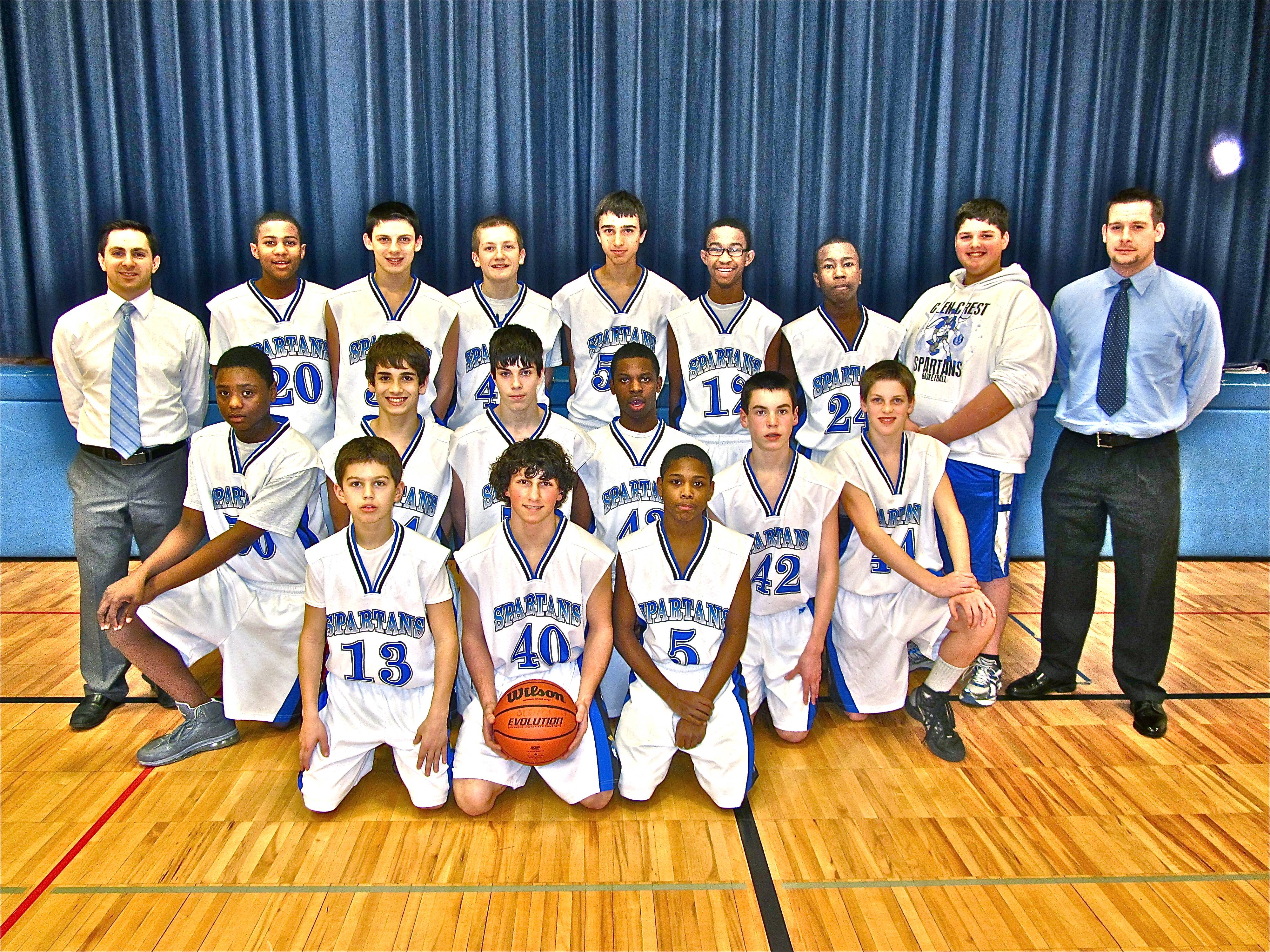 Glen Crest Middle School eighth-grade boys basketball team wins DuPage Metro Valley Association Conference with a 14-0 season.  The eighth-grade Spartans posted one of the most successful seasons in Glen Crest boys basketball history.