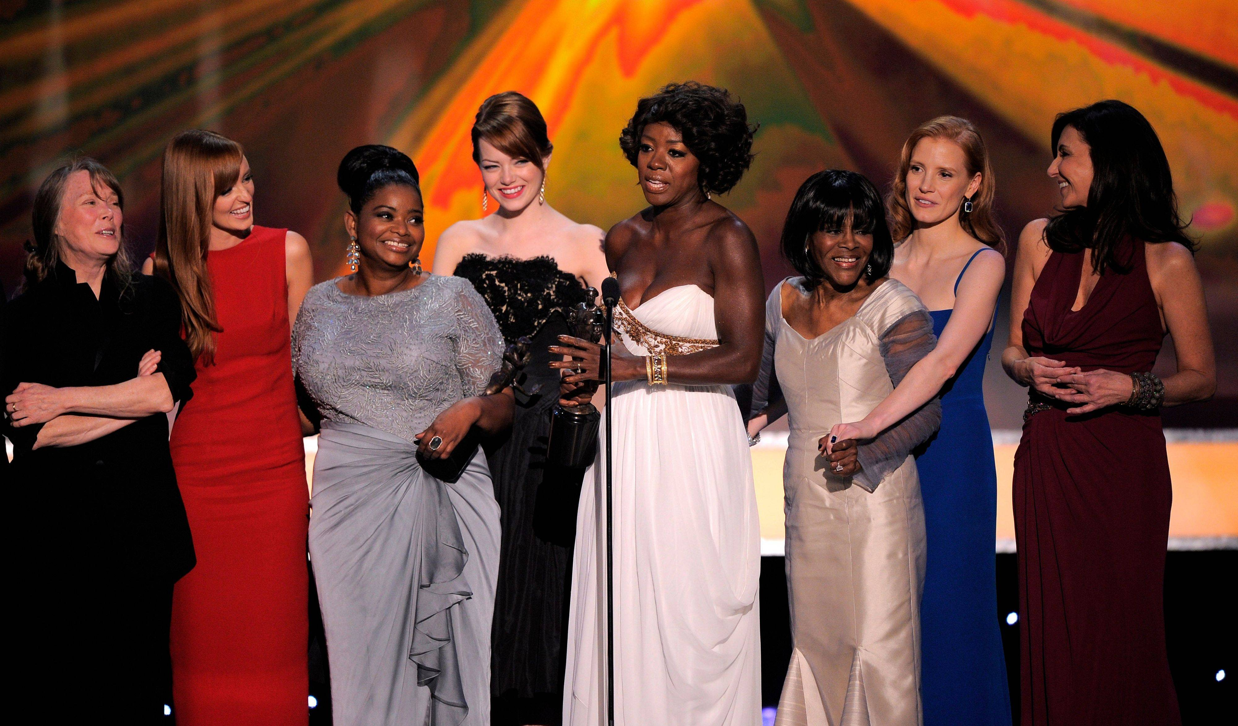'The Help' wins big at SAG awards