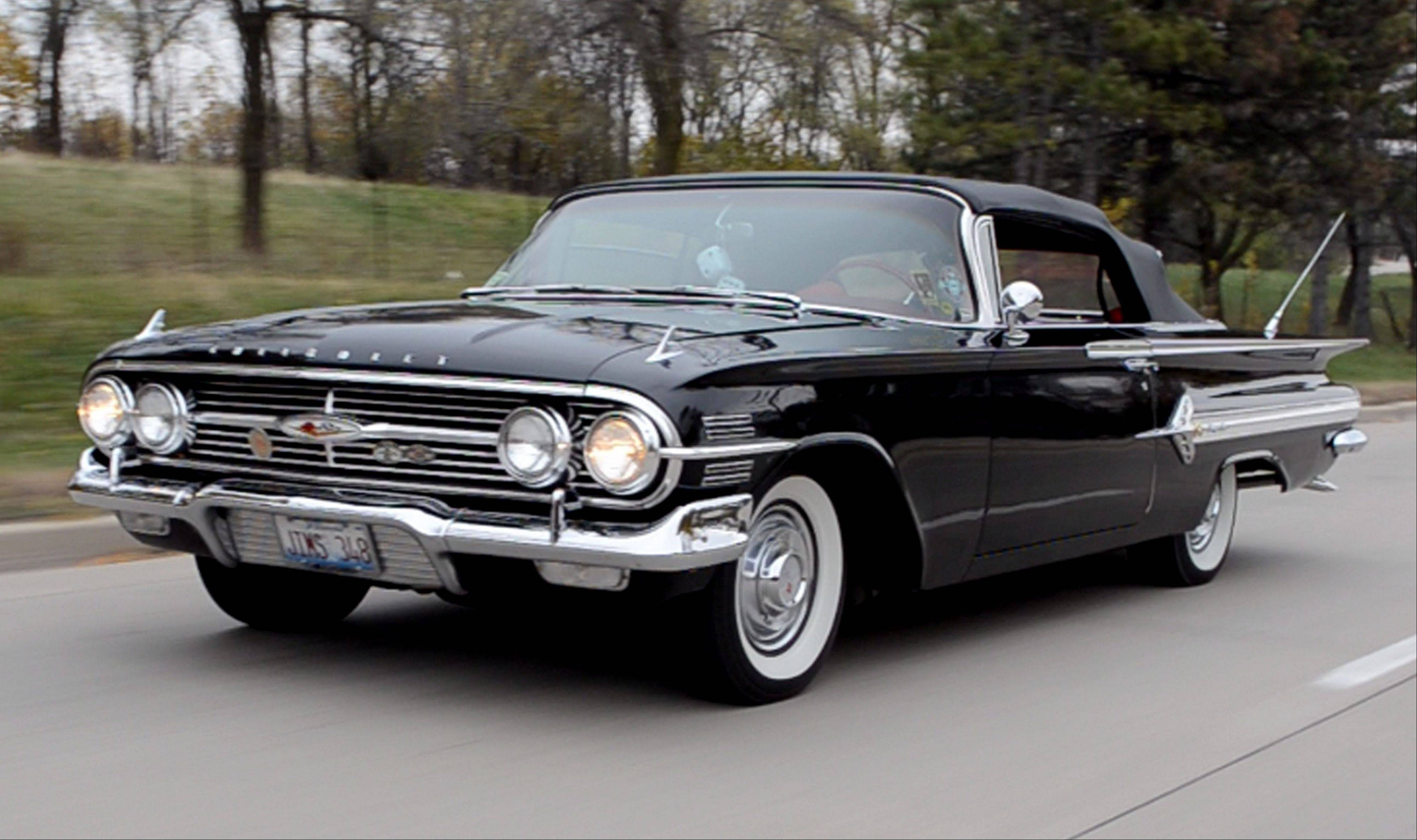 The owner of this vintage Chevrolet Impala cruised to Wisconsin for the most recent Brighton Run.