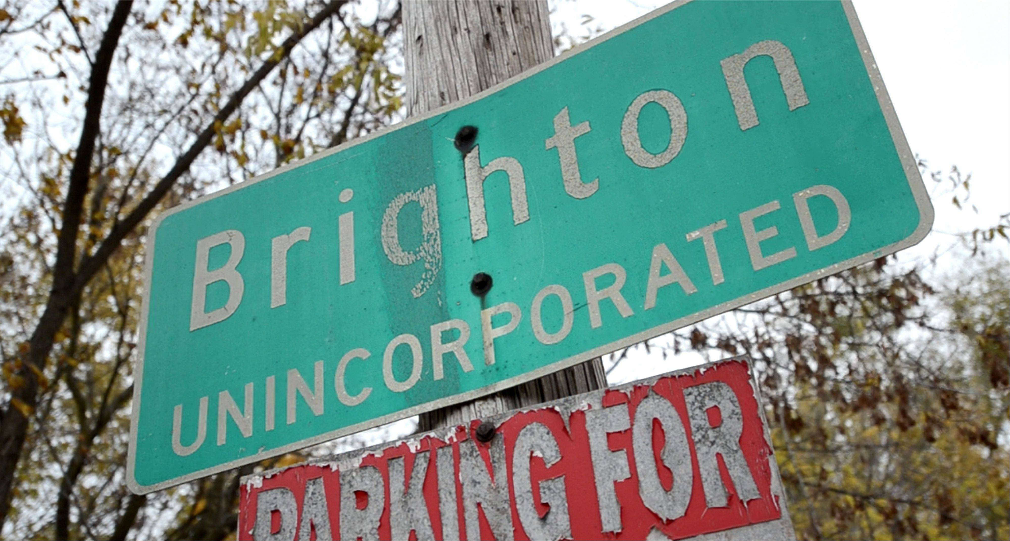The small town of Brighton, Wis., is just over the border from Illinois.