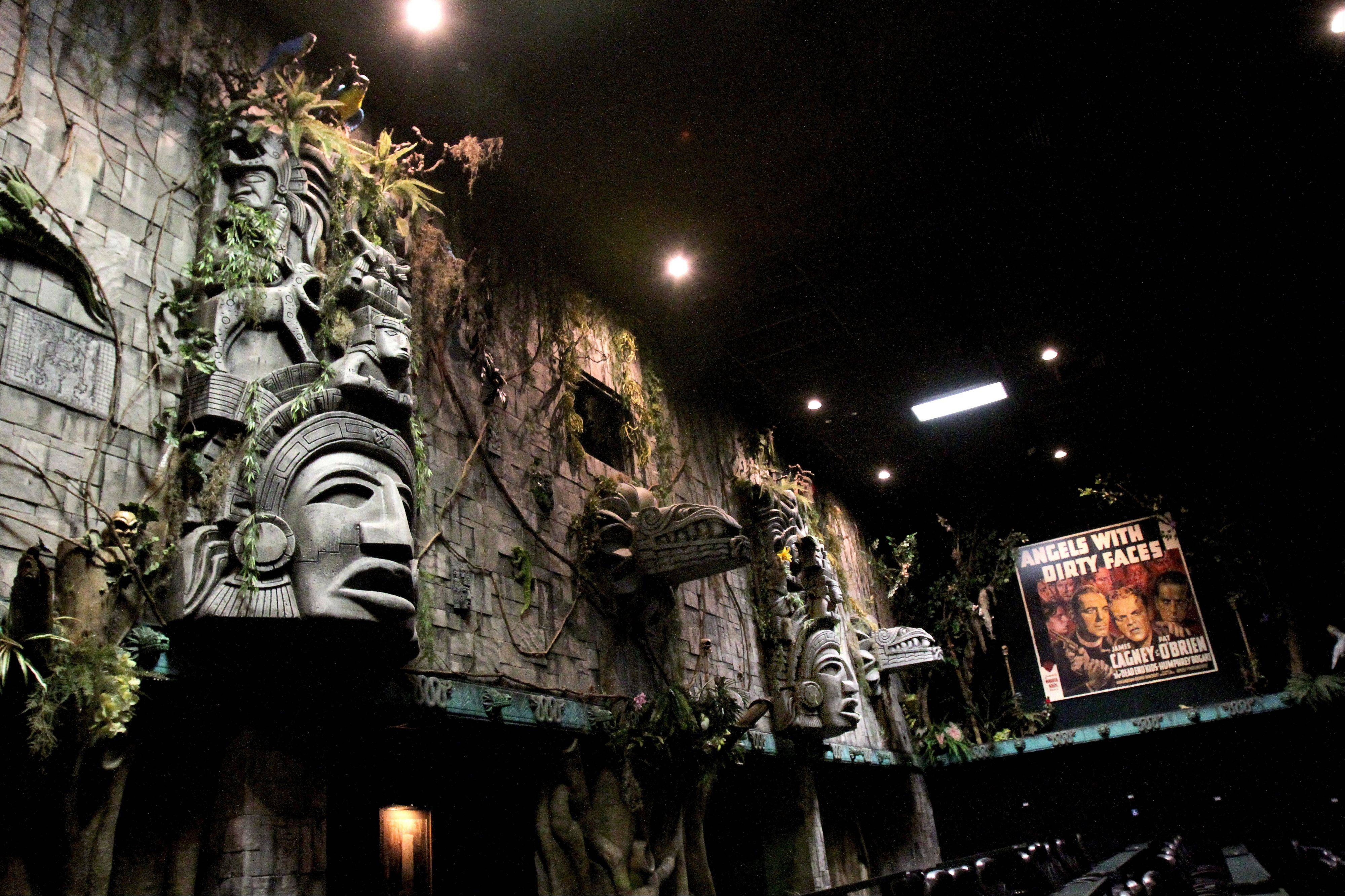 A Mayan themed theater at the Hollywood Palms Cinema in Naperville.